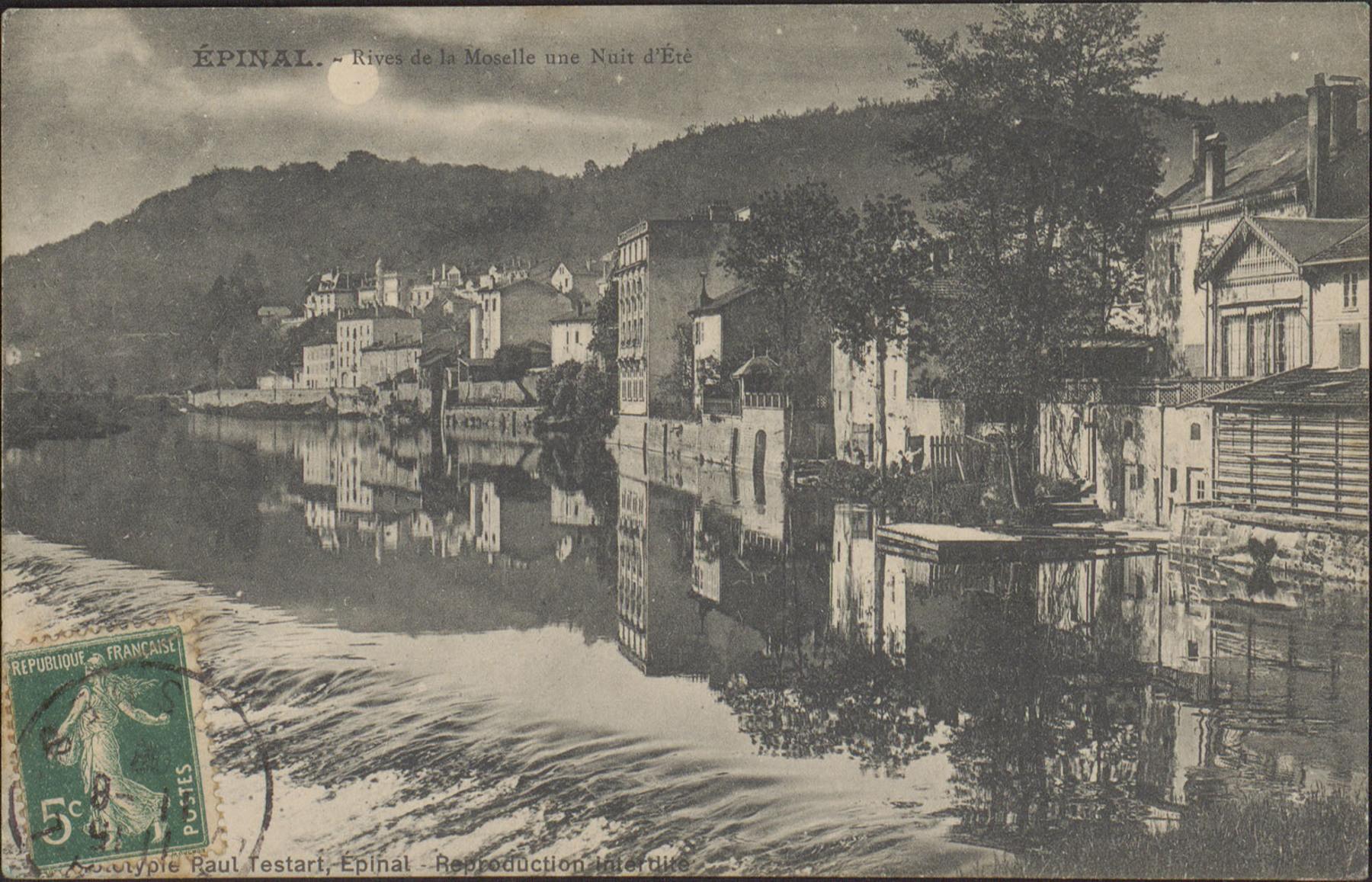 Contenu du Épinal, Rives de la Moselle une nuit d'été