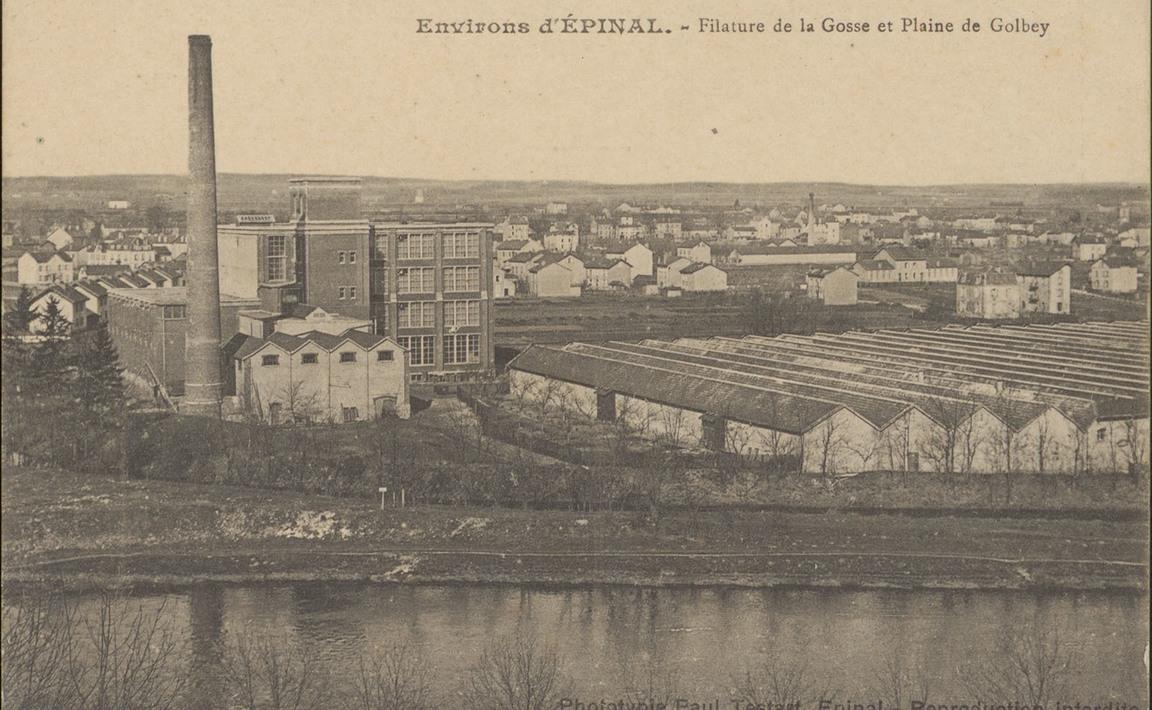 Contenu du Environs d'Épinal, Filature de la Gosse et Plaine de Golbey