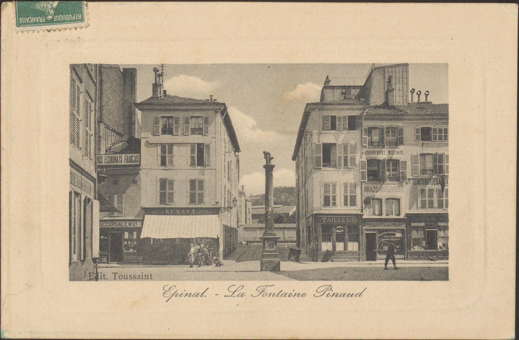 Contenu du Épinal, La Fontaine Pinau