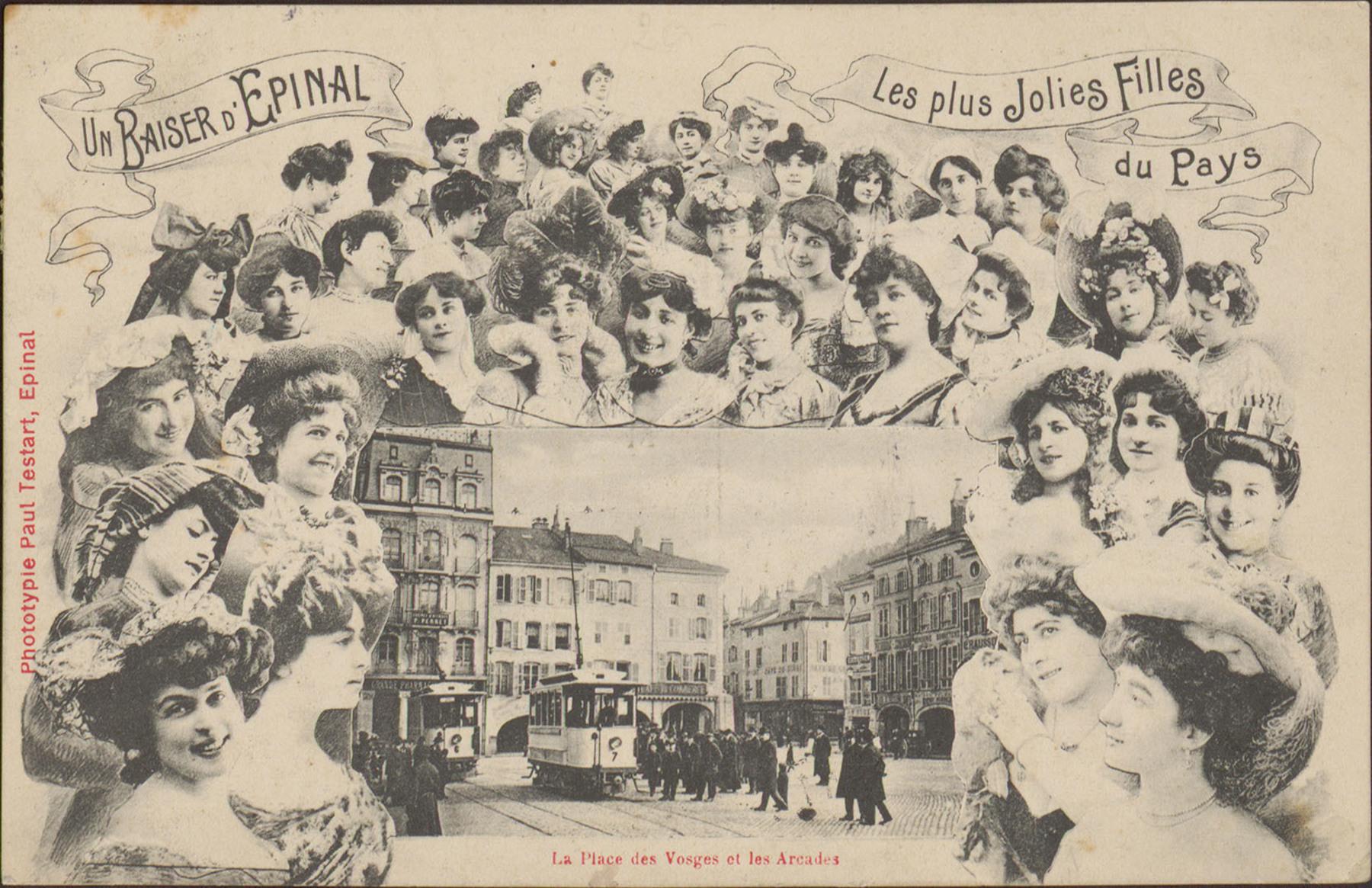 Contenu du Un Baiser d'Épinal, Les Plus jolies filles du Pays, La Place des Vosges et les Arcades.