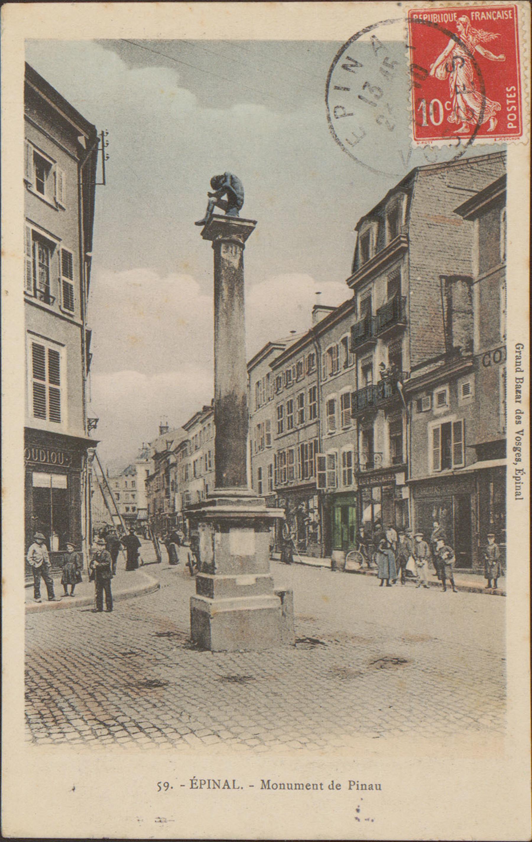 Contenu du Épinal, Monument de Pinau