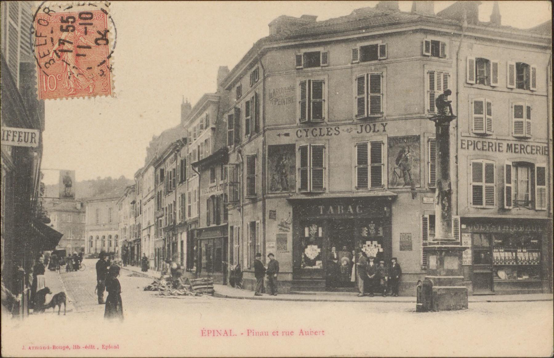 Contenu du Épinal, Pinau et rue Aubert