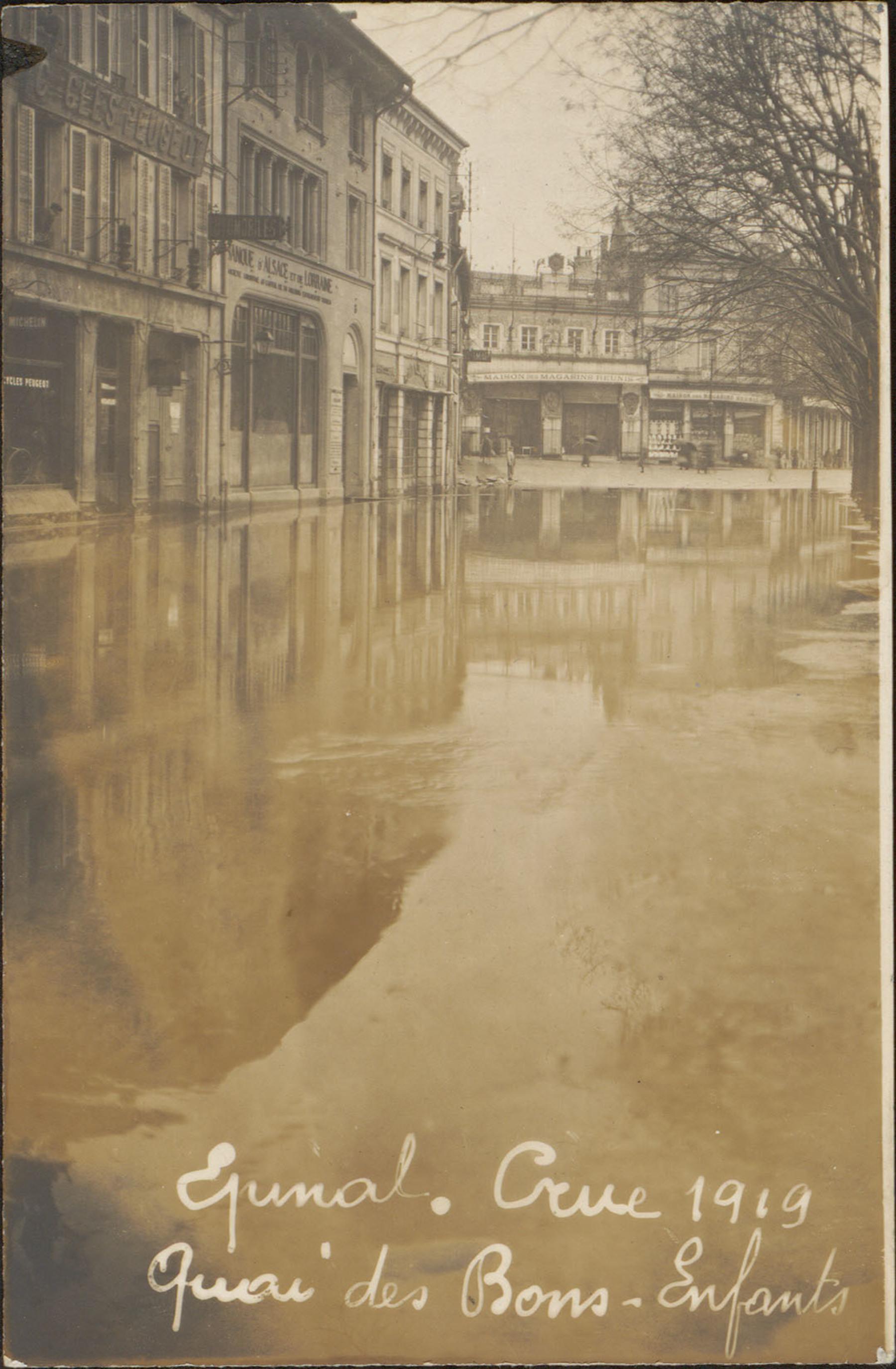 Contenu du Épinal, Crue 1919, Quai des Bons-Enfants