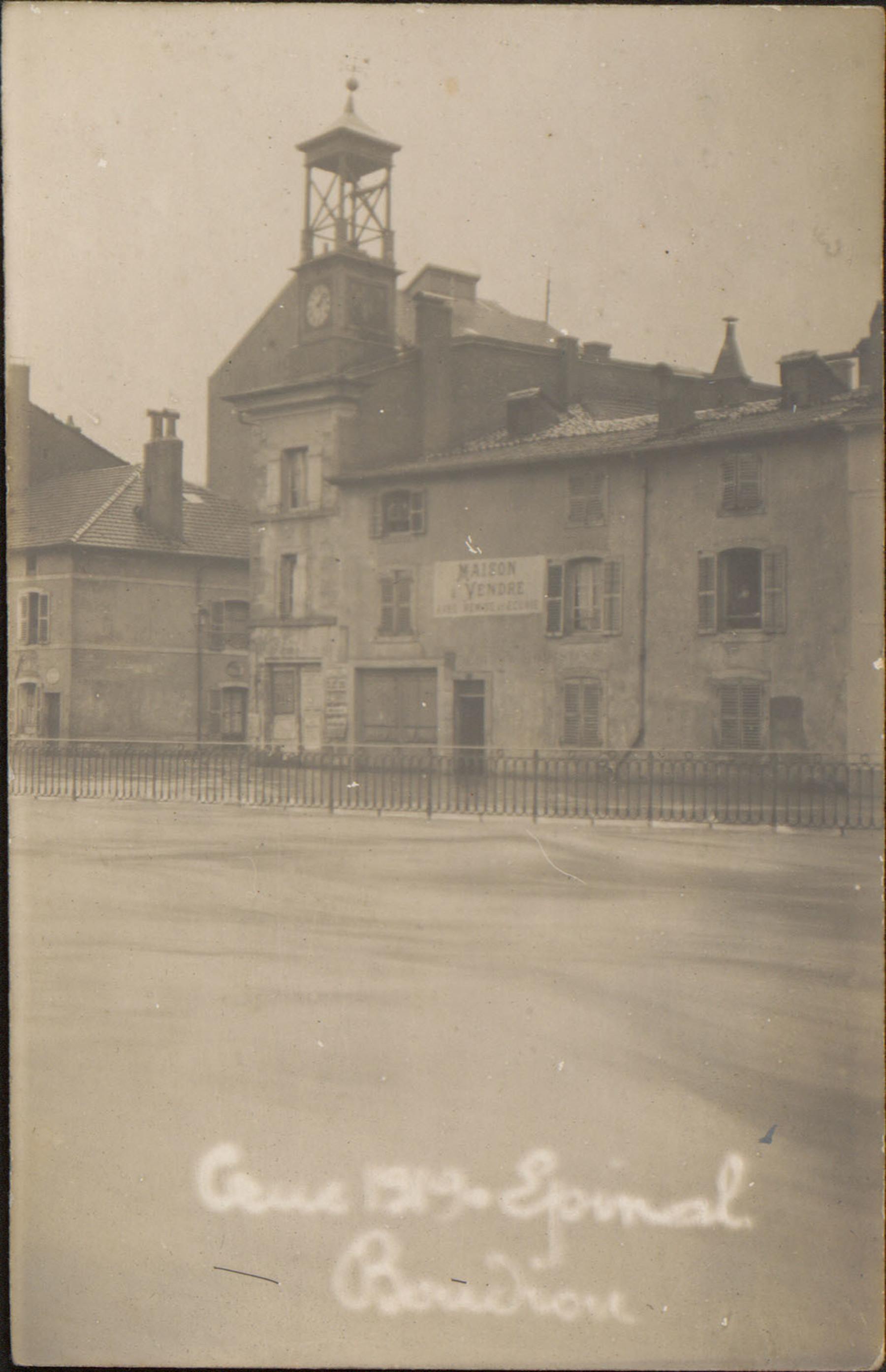 Contenu du Crue 1919, Épinal, Boudiou