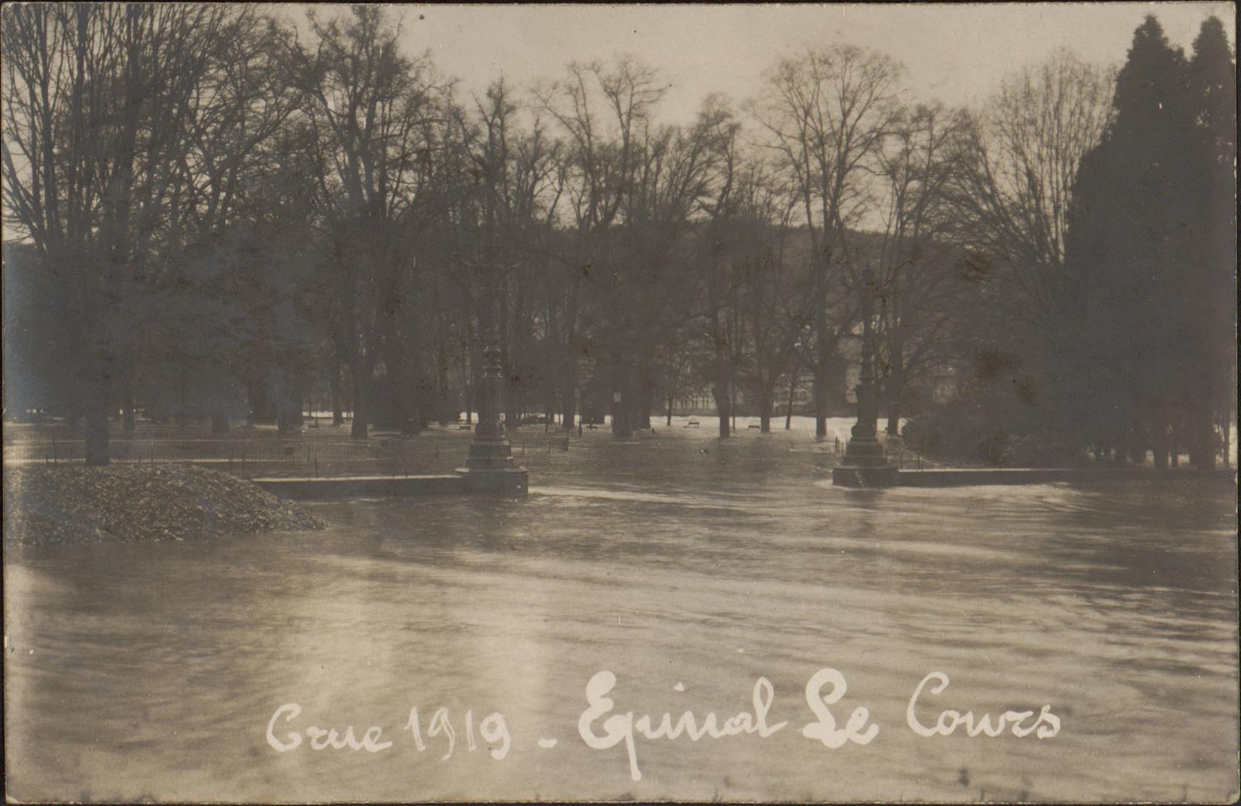 Contenu du Crue 1919, Épinal, Le Cours