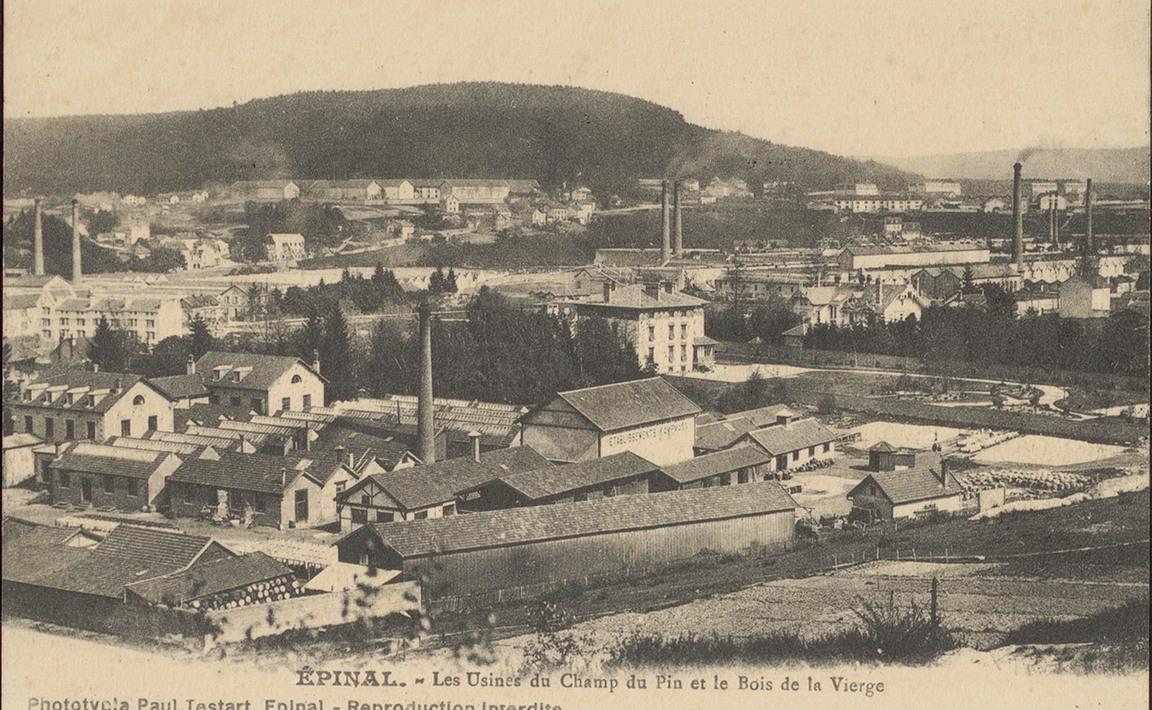 Contenu du Épinal, Les Usines du Champ du Pin et le Bois de la Vierge