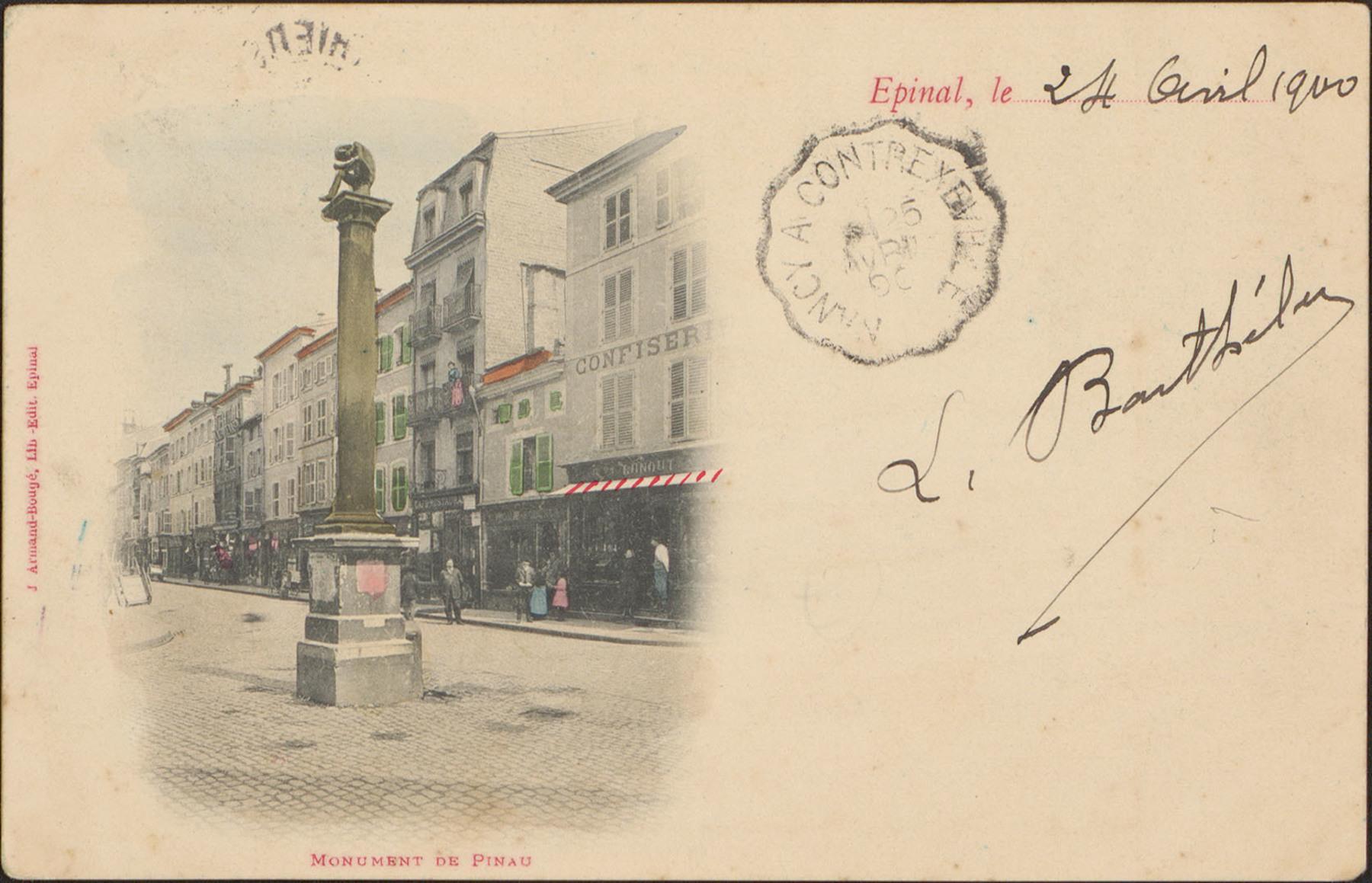 Contenu du Monument de Pinau