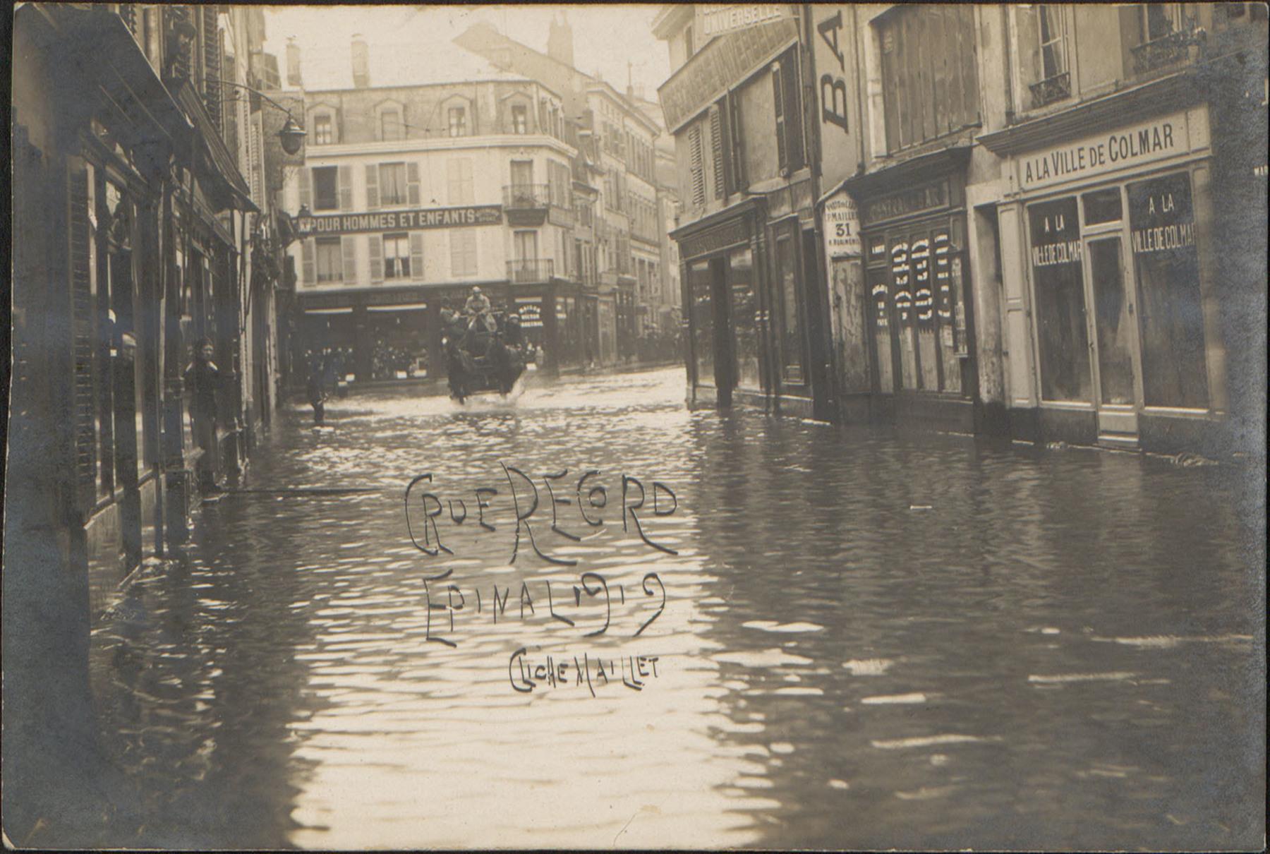 Contenu du Crue Record, Épinal 1919