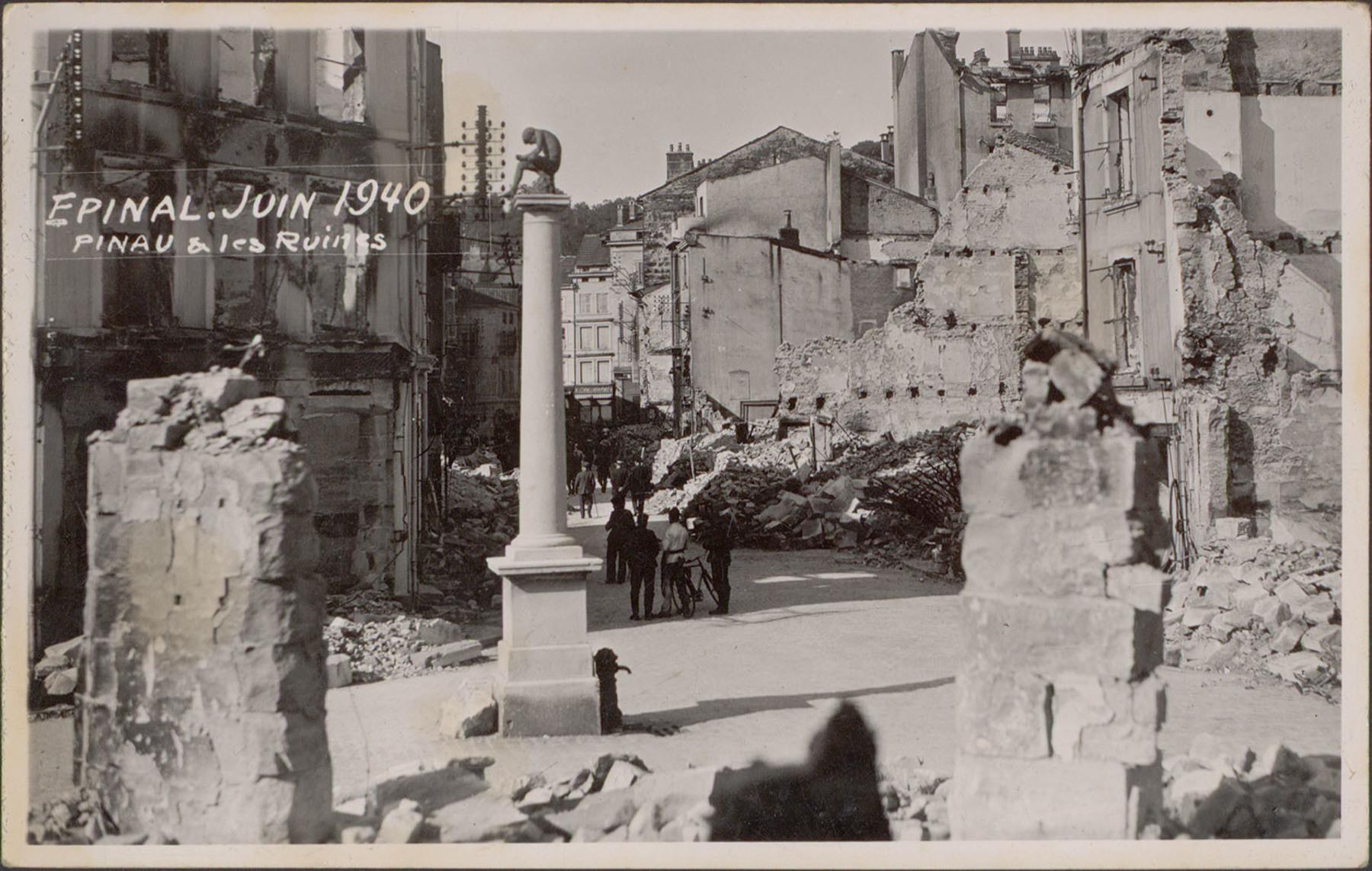 Contenu du Épinal, Juin 1940, Pinau & les Ruines