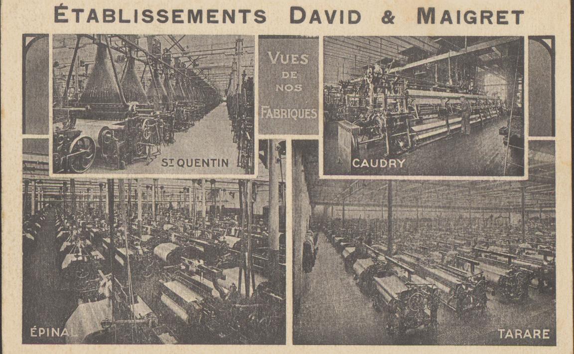 Contenu du Etablissements David & Maigret, vues de nos fabriques
