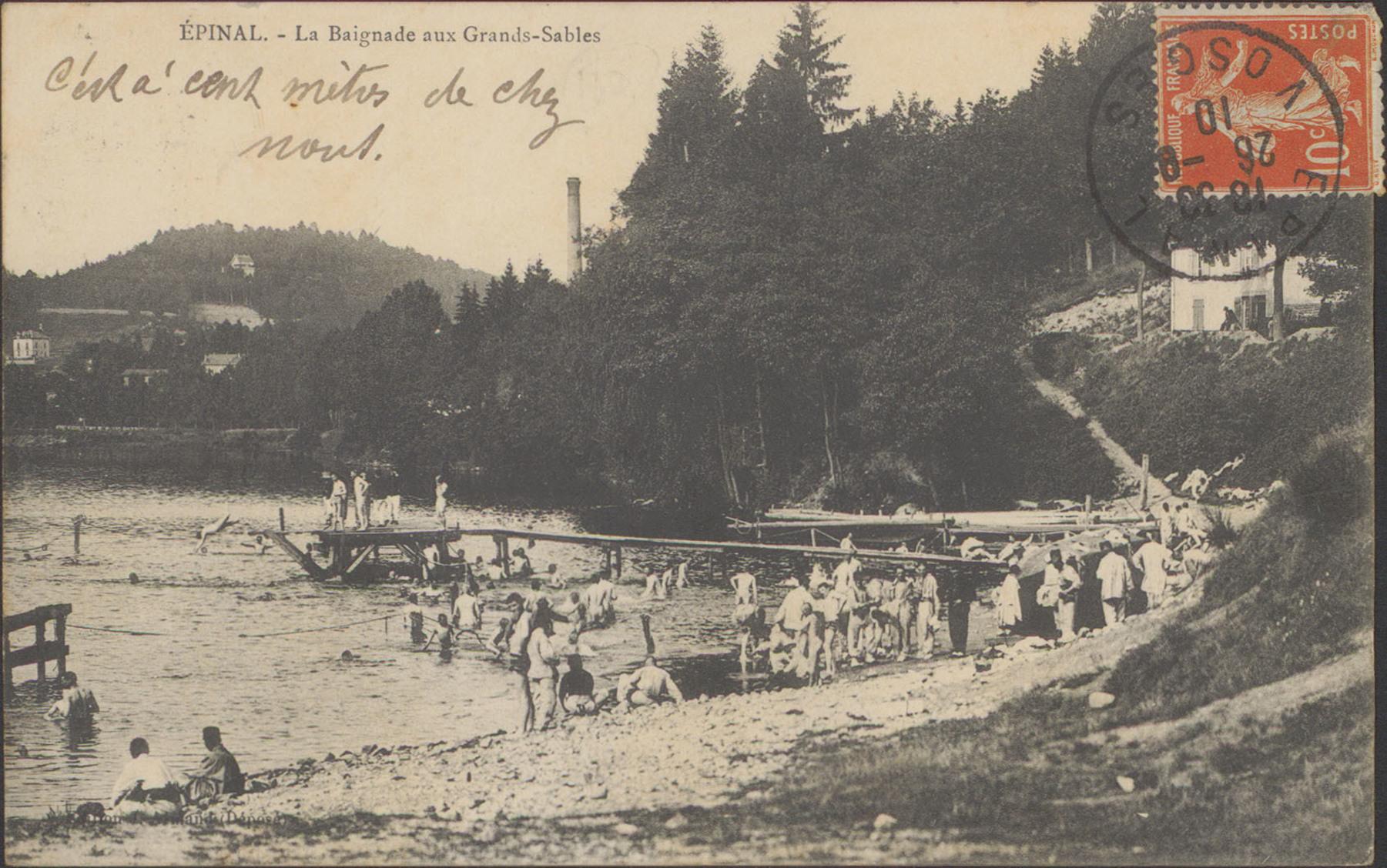 Contenu du Épinal, La Baignade aux Grands-Sables