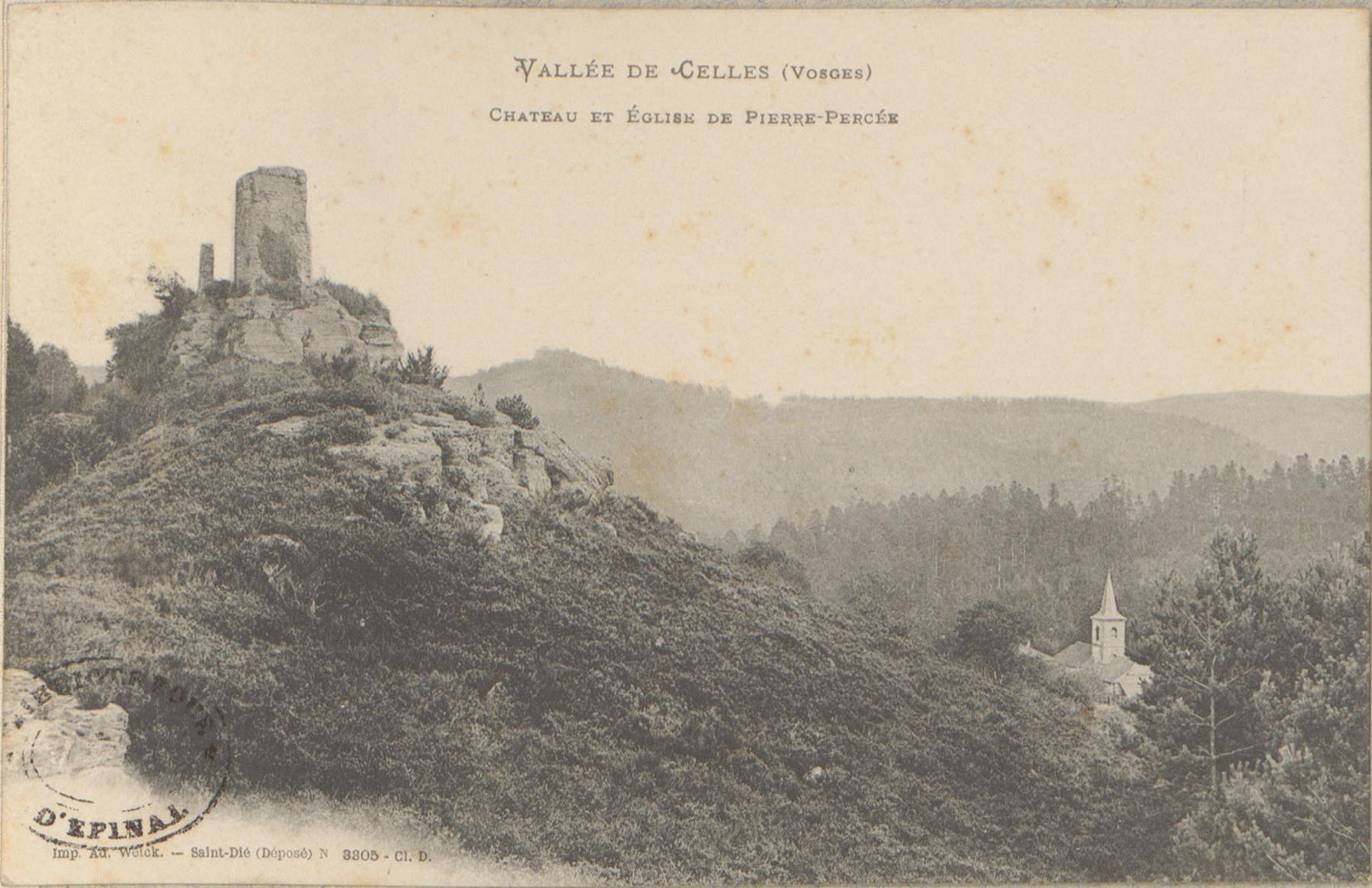 Contenu du Vallée de Celles (Vosges), Château et Église de Pierre-Percée