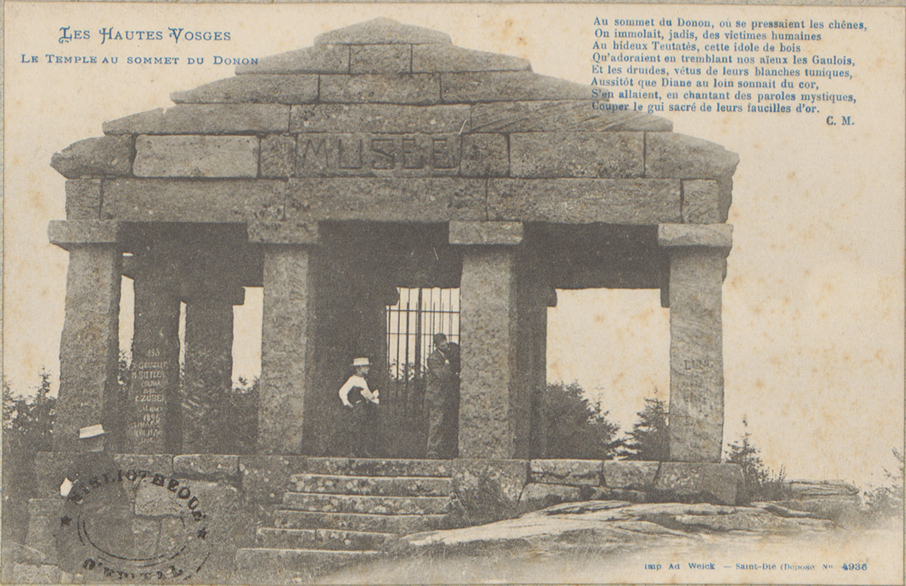 Contenu du Le Temple au sommet du Donon
