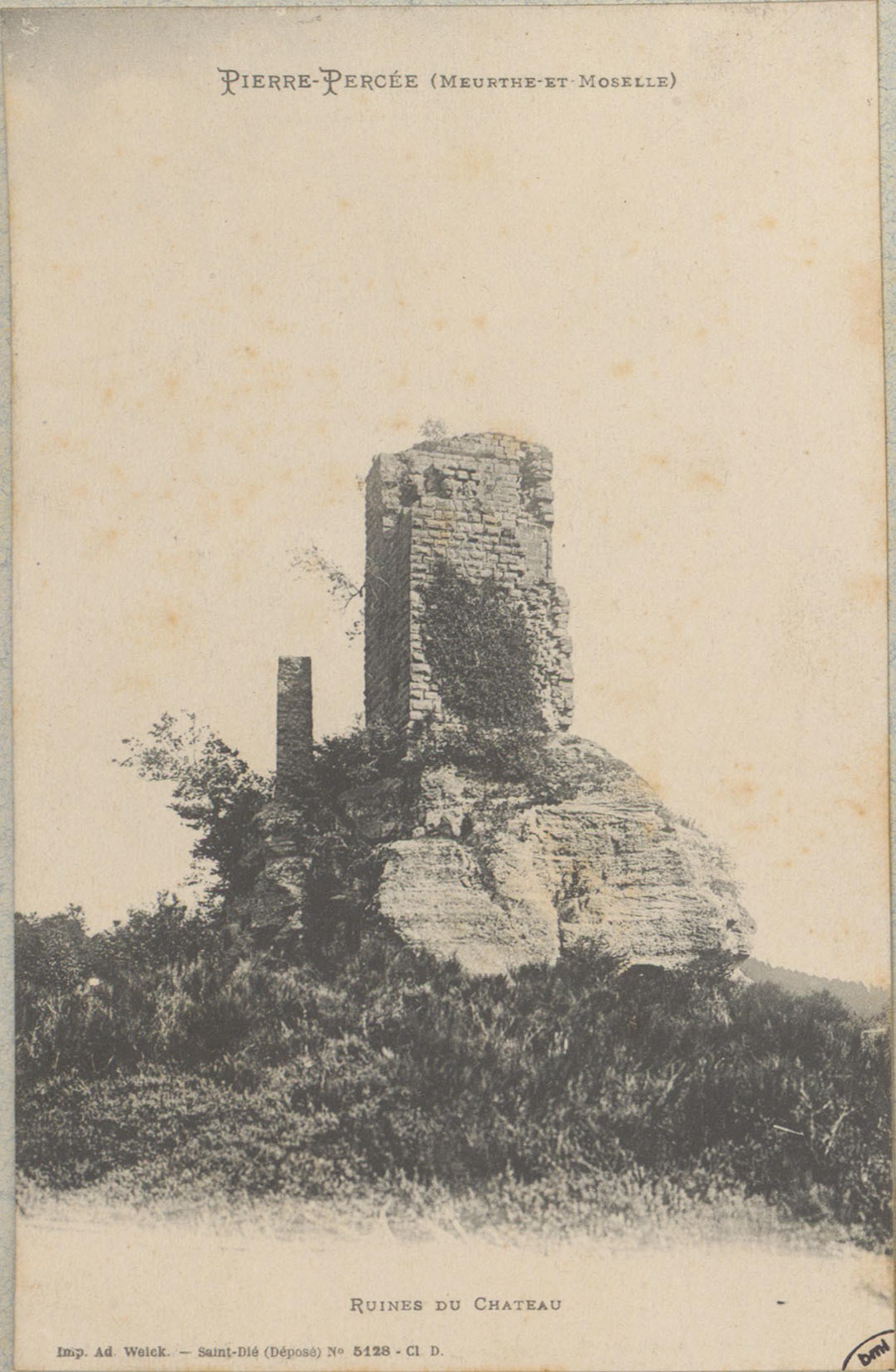 Contenu du Pierre-Percée (Meurthe-et-Moselle), Ruines du Château