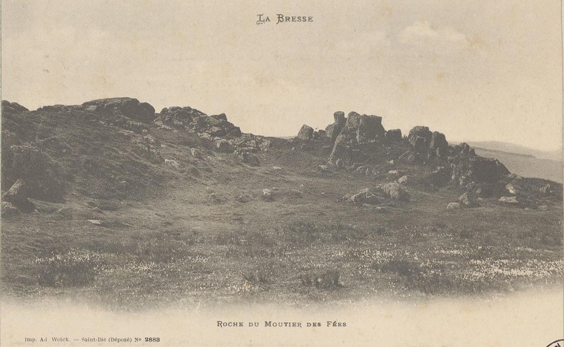 Contenu du La Roche du Moutier des Fées, La Bresse
