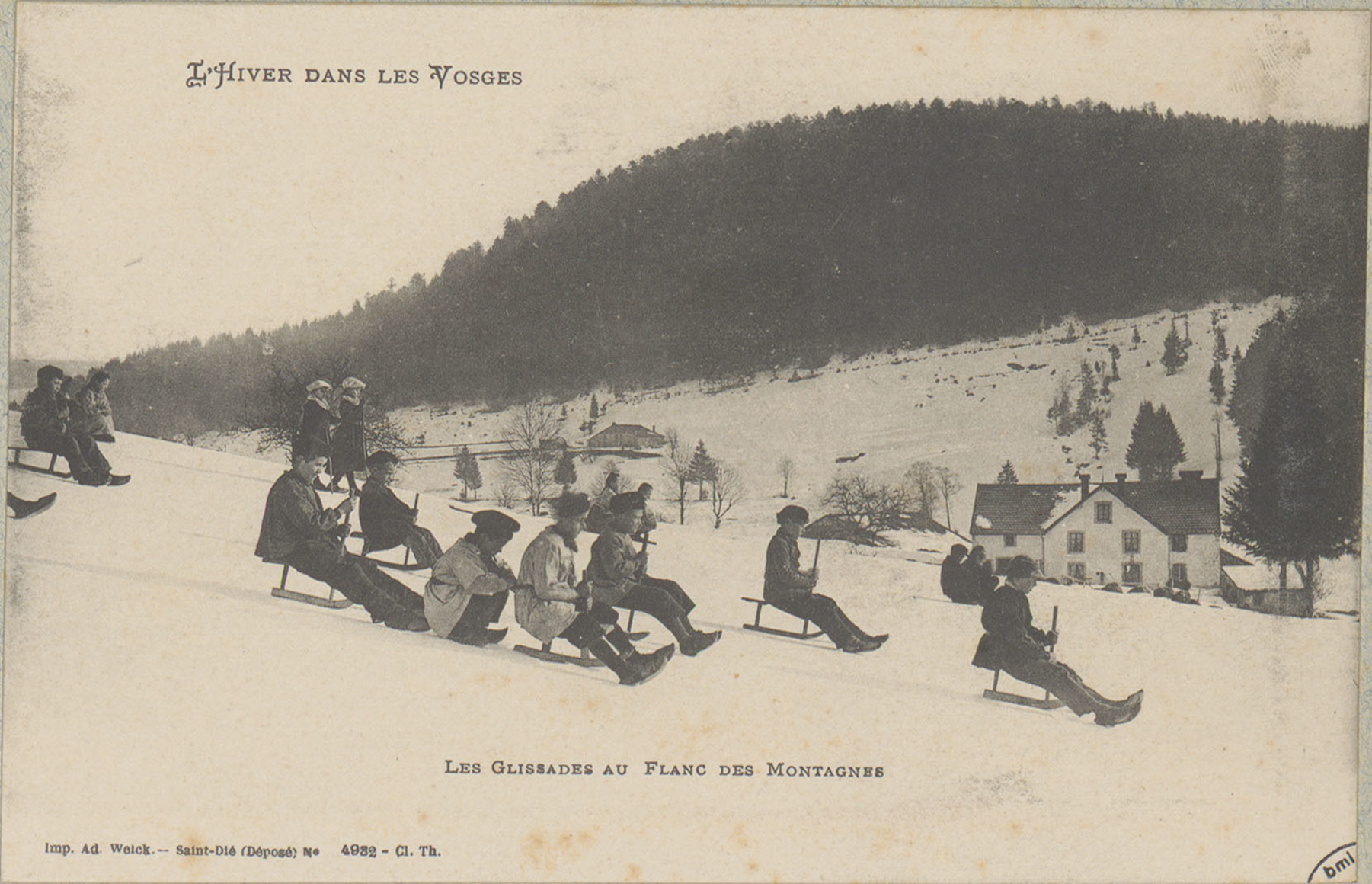 Contenu du Les Glissades au flanc des montagnes