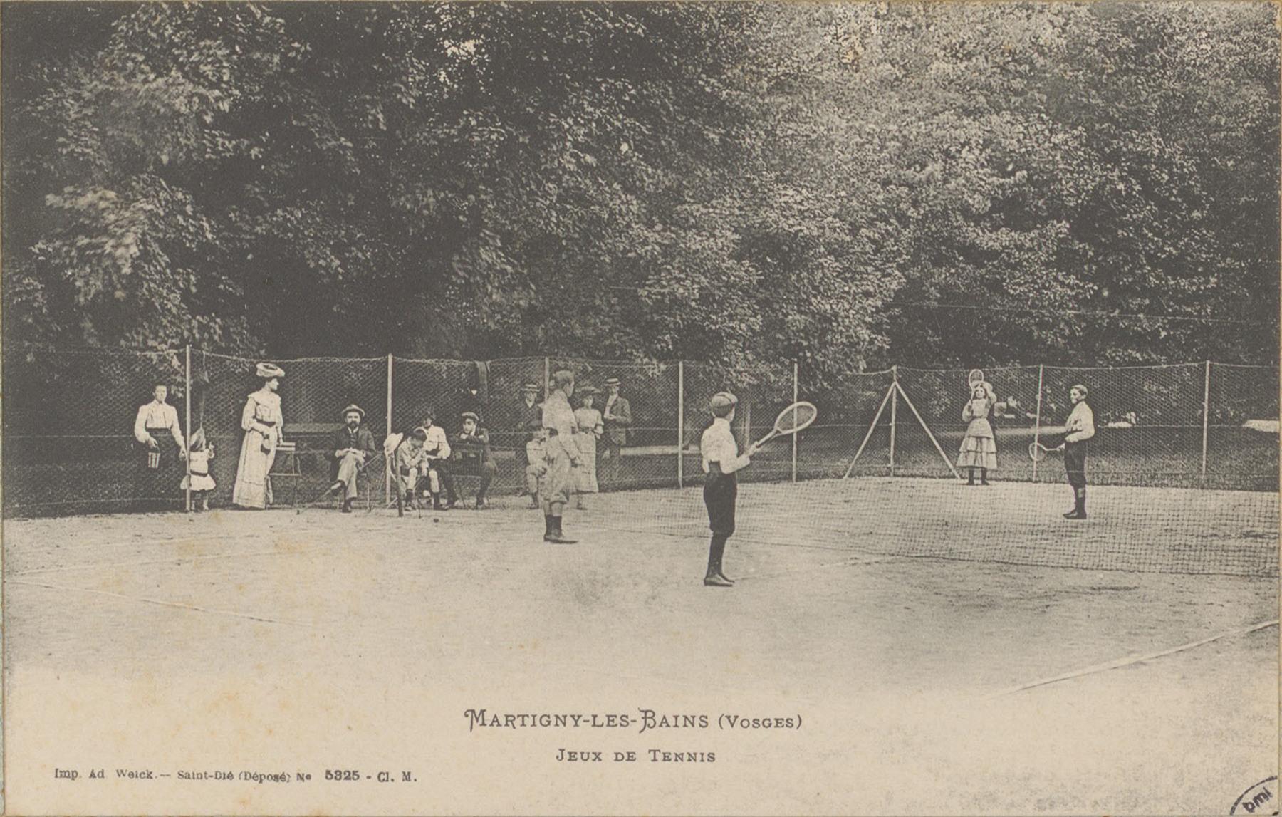Contenu du Martigny-les-Bains (Vosges), Jeux de tennis