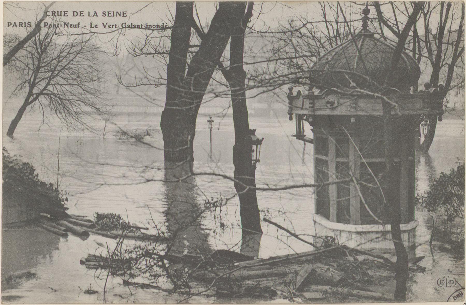 Contenu du Paris, Pont-Neuf, Le Vert galant inondé