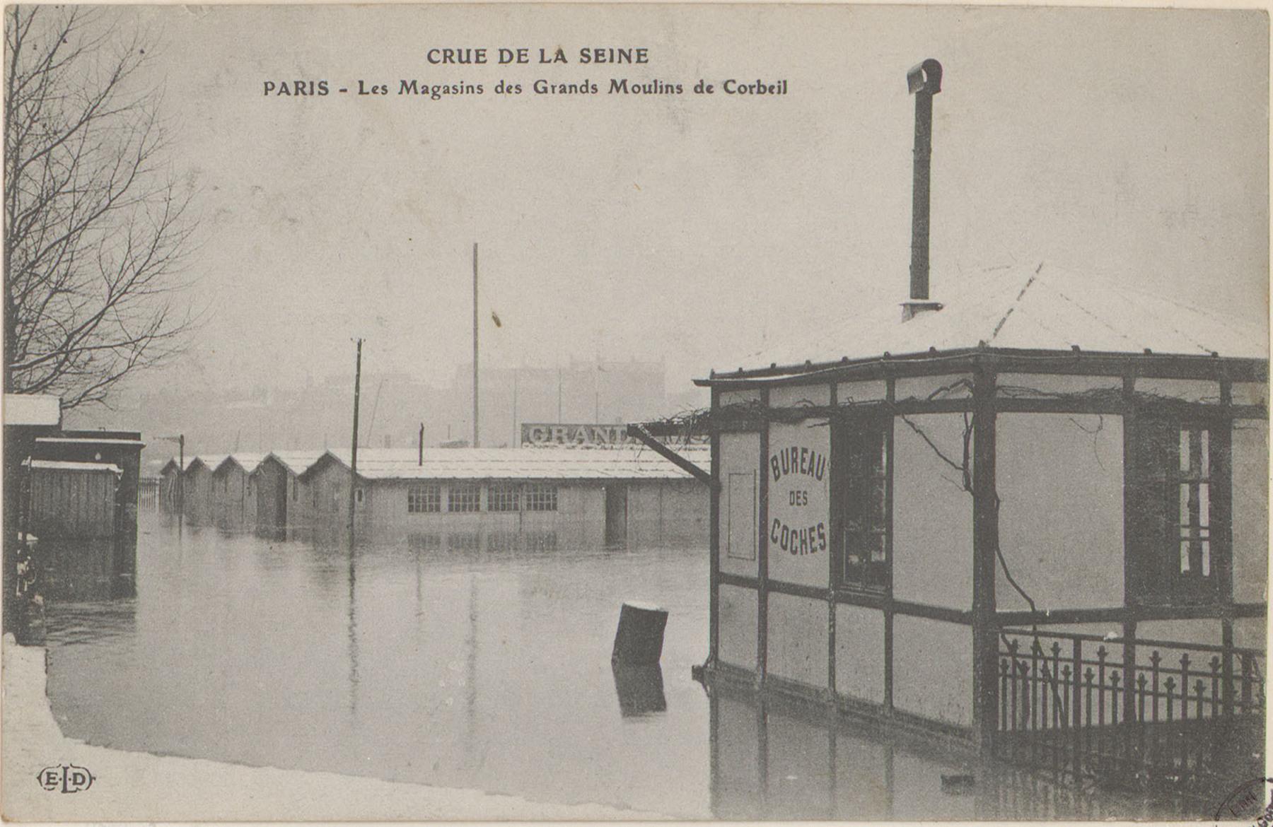 Contenu du Paris, Les Magasins des Grands Moulins de Corbeil
