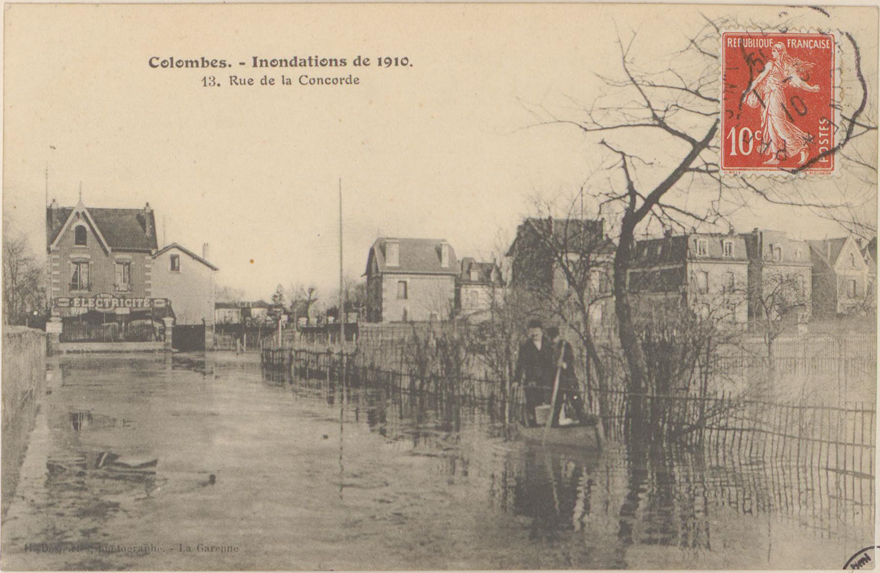 Contenu du Colombes, Inondations de 1910, 13 rue de la Concorde