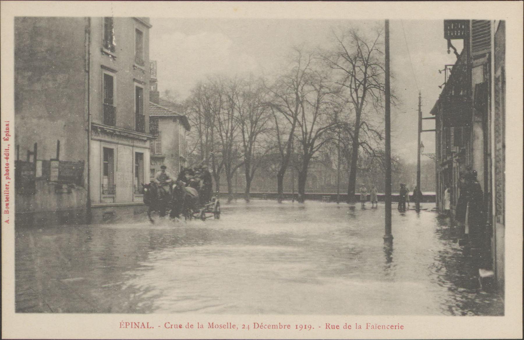 Contenu du Épinal, Crue de la Moselle, 24 décembre 1919, Rue de la Faïencerie