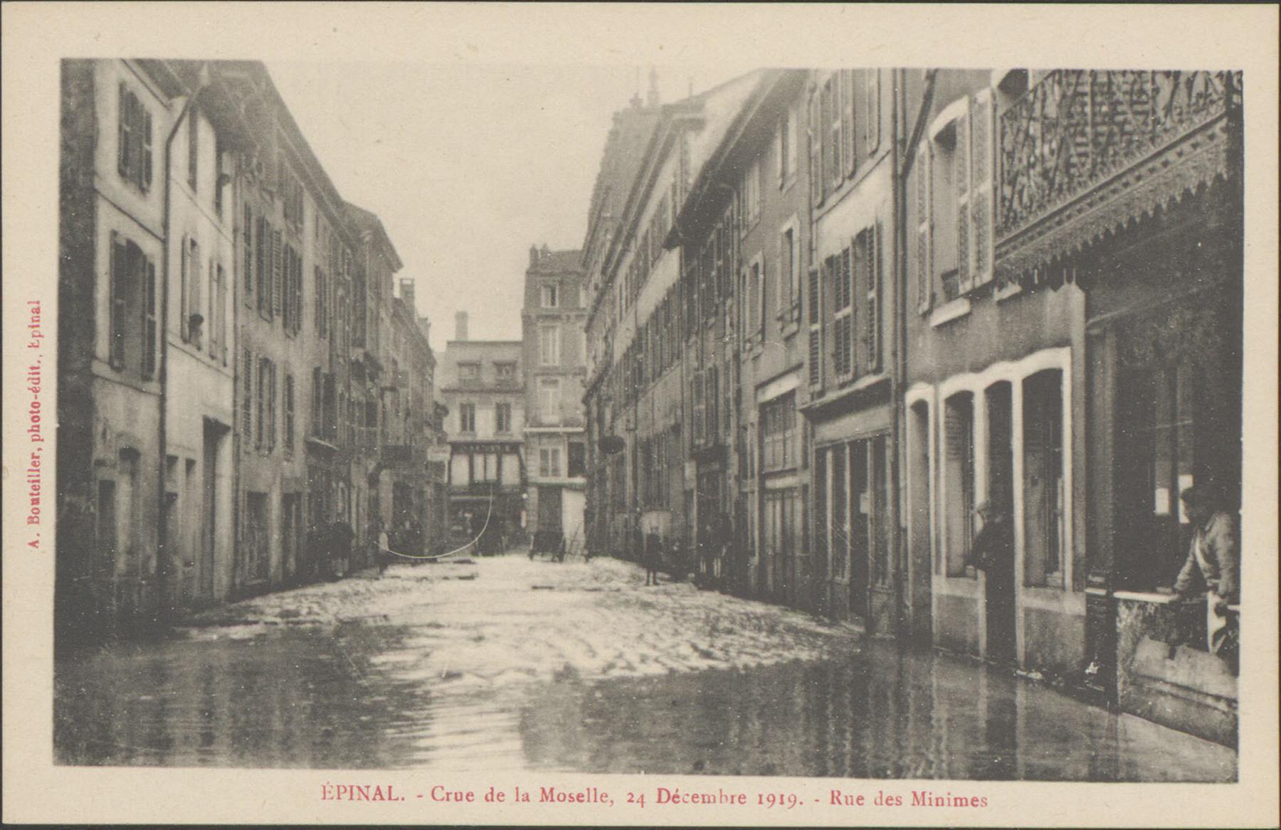 Contenu du Épinal, Crue de la Moselle, 24 décembre 1919, Rue des Minimes