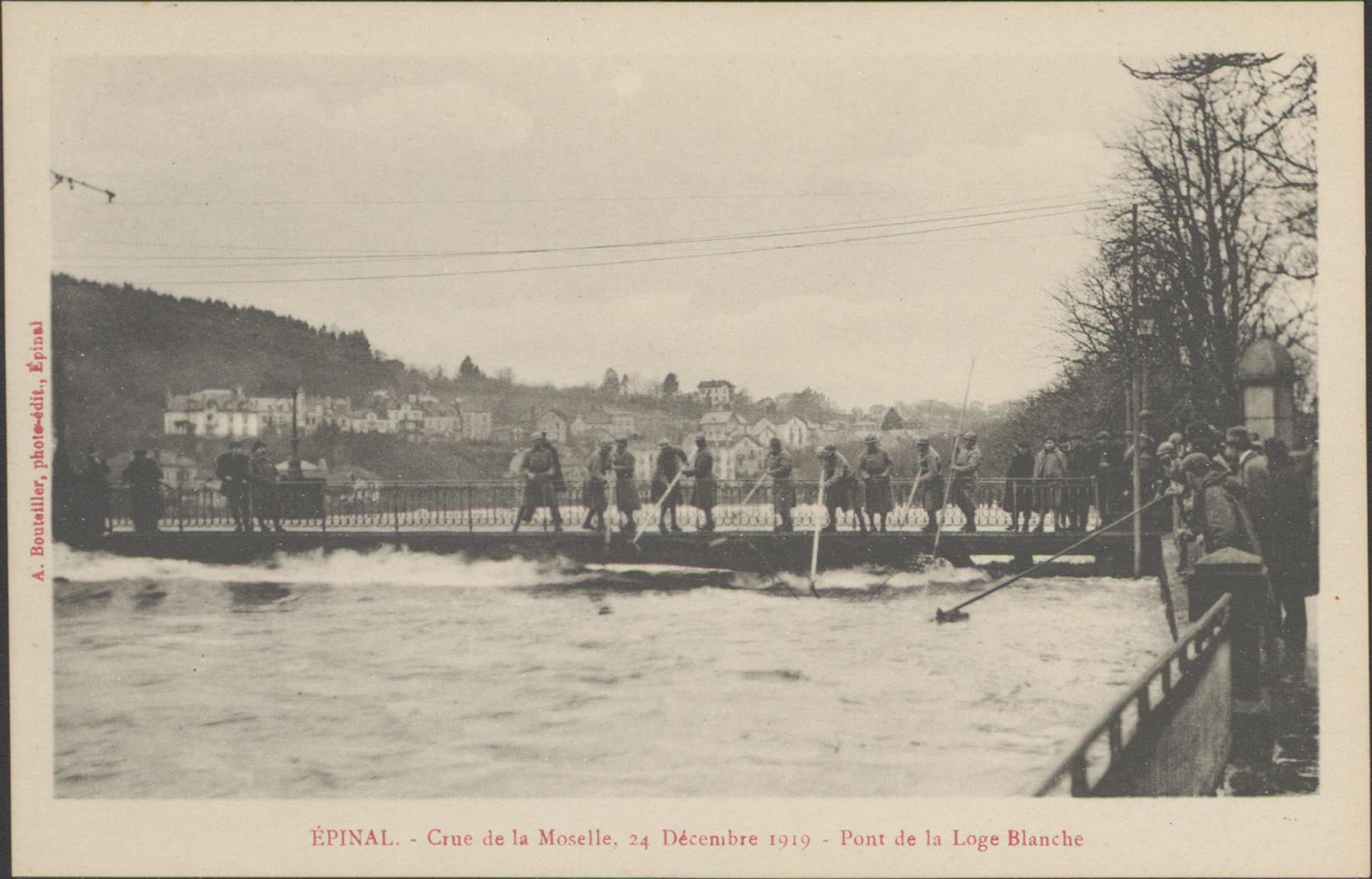 Contenu du Épinal, Crue de la Moselle, 24 décembre 1919, Pont de la Loge Blanche