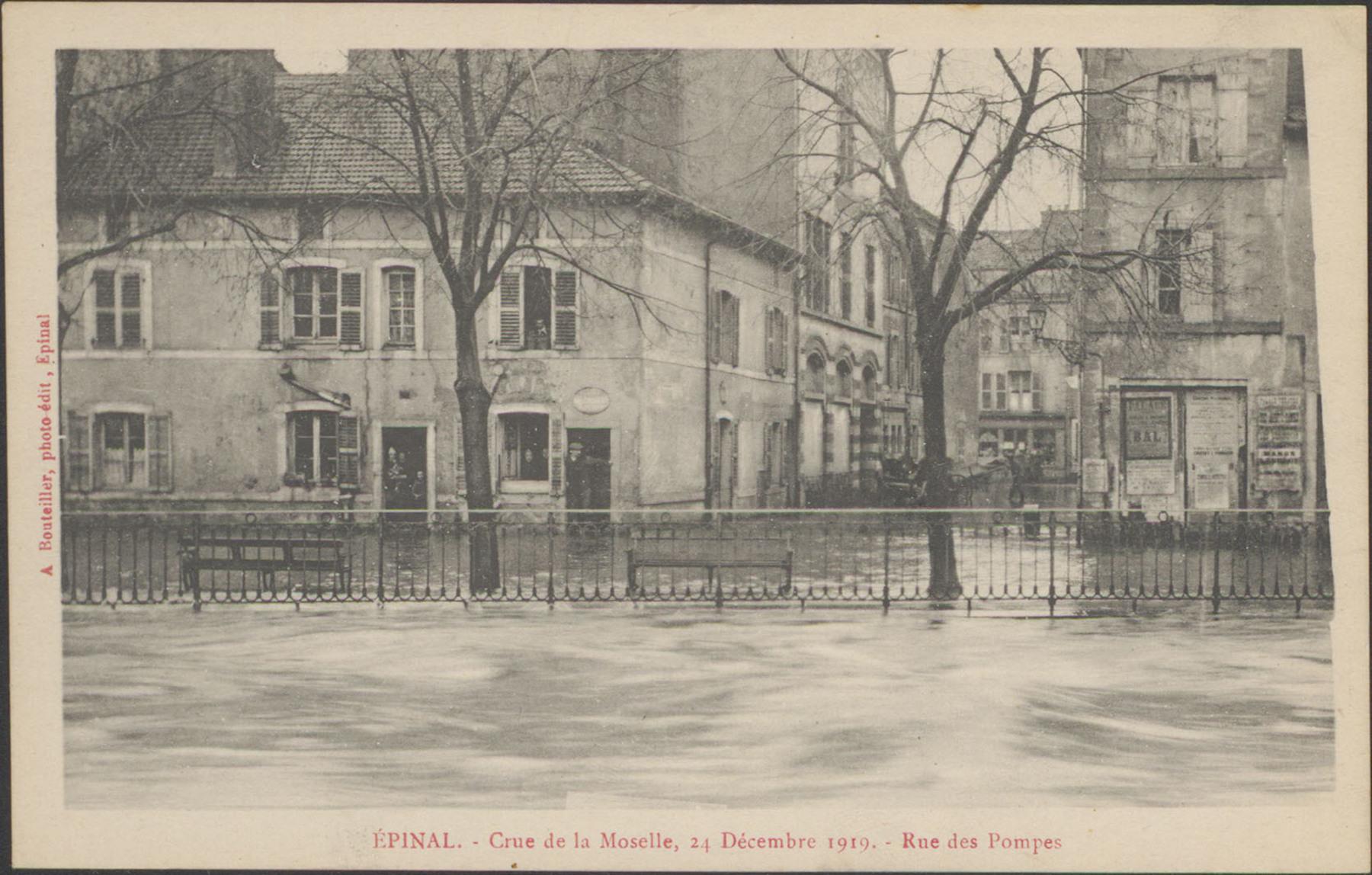 Contenu du Épinal, Crue de la Moselle, 24 décembre 1919, Rue des Pompes