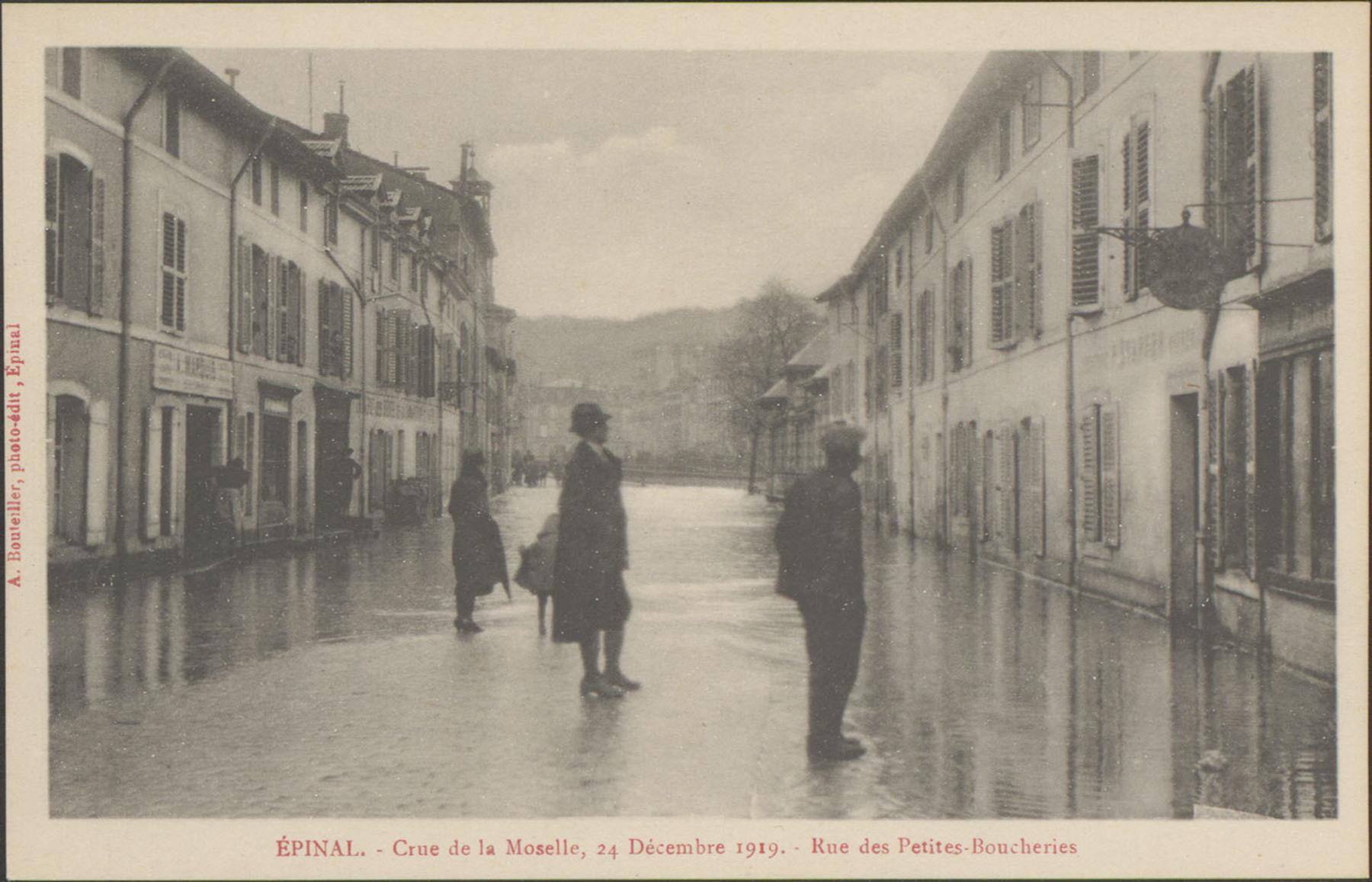 Contenu du Épinal, Crue de la Moselle, 24 décembre 1919, Rue des Petites-Boucheries