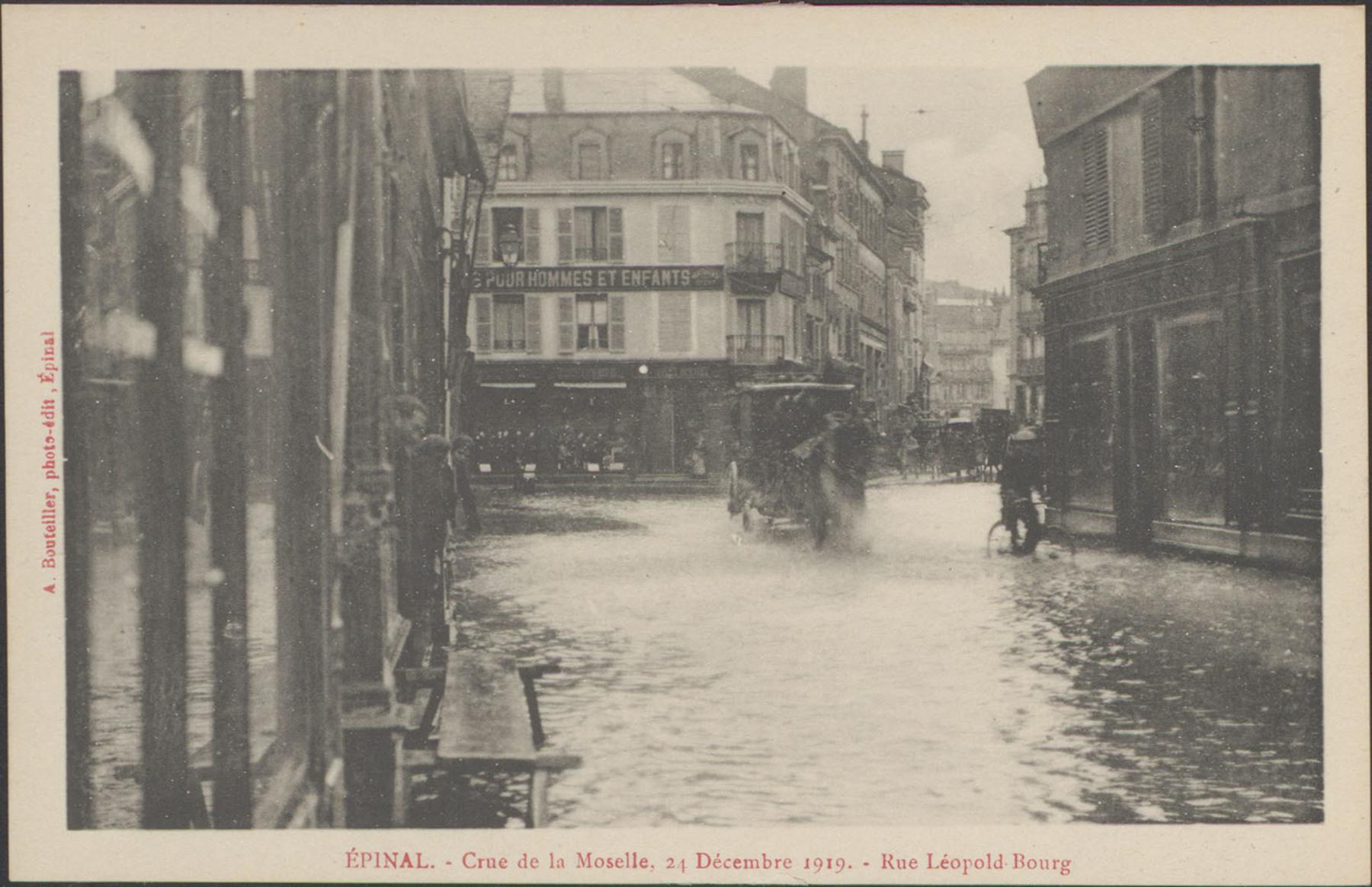 Contenu du Épinal, Crue de la Moselle, 24 décembre 1919, Rue Léopold-Bourg