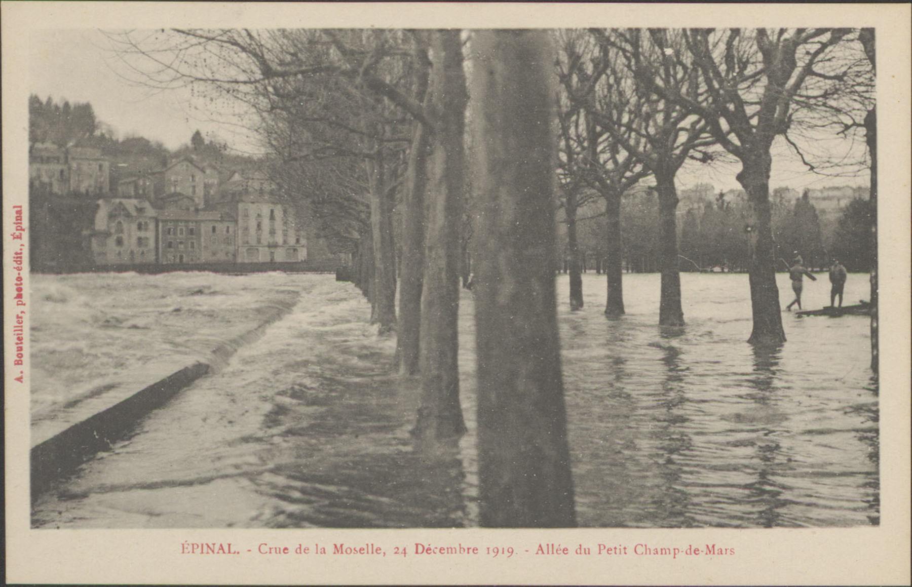 Contenu du Épinal, Crue de la Moselle, 24 décembre 1919, Allée du Petit Champ de Mars