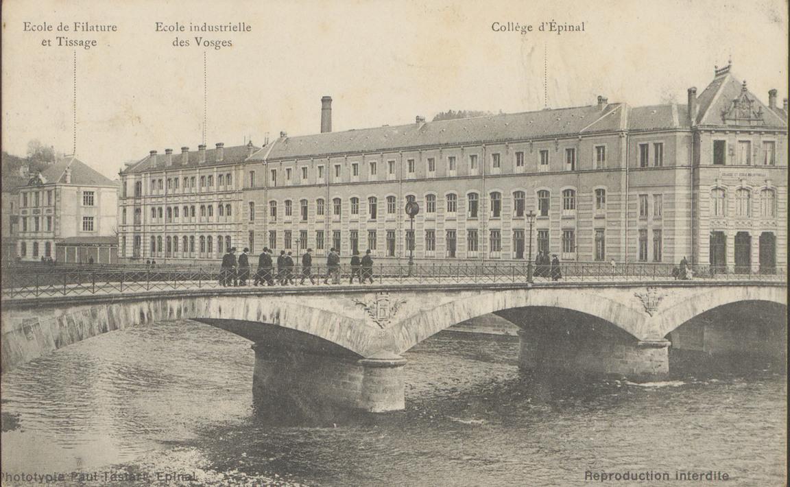 Contenu du École de Filature et Tissage, École Industrielle des Vosges, Collège d'Épinal