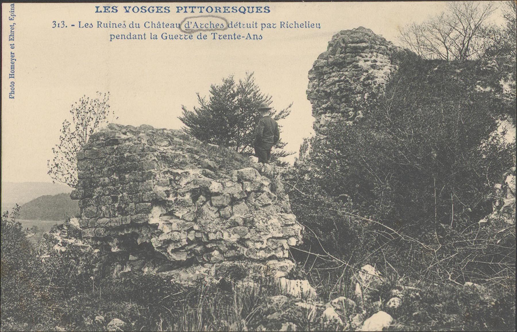 Contenu du Les Ruines du Château d'Arches détruit par Richelieu pendant la Guerre de Trente-Ans