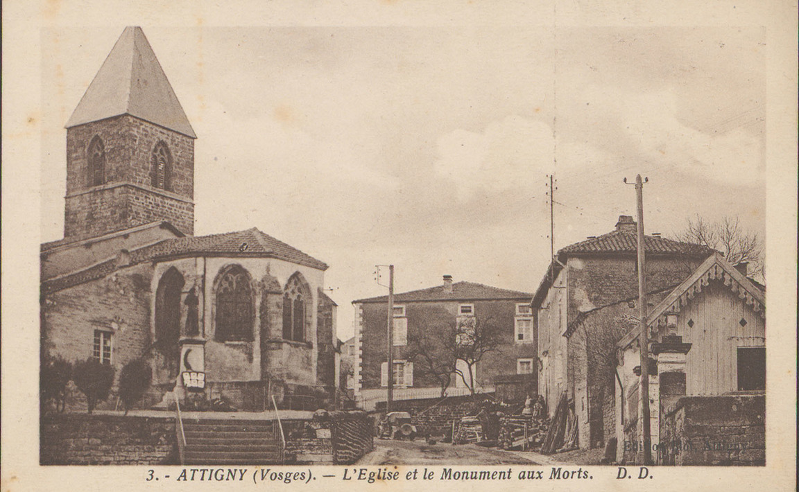 Contenu du Le monument aux Morts d'Attigny