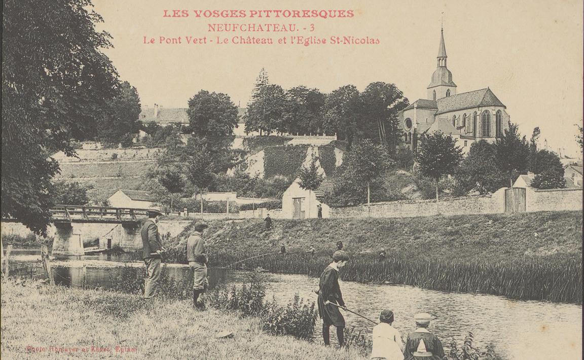 Contenu du NeufChâteau, Le Pont Vert, Le Château et l'Église St-NiColas