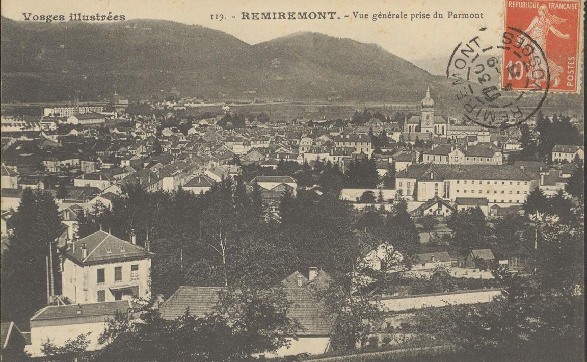 Contenu du Remiremont, Vue générale prise du Parmont