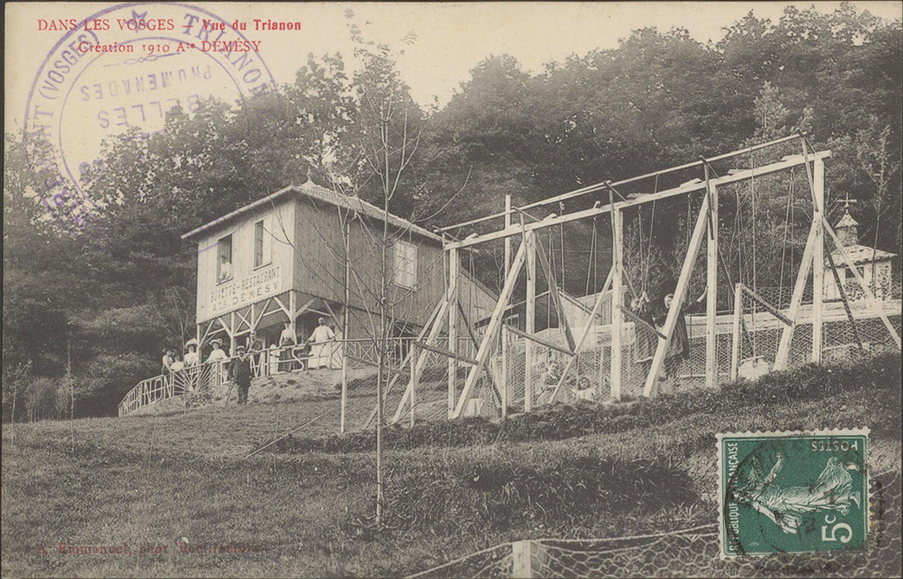 Contenu du Dans les Vosges, Vue du Trianon, Création 1910, Ate Démésy