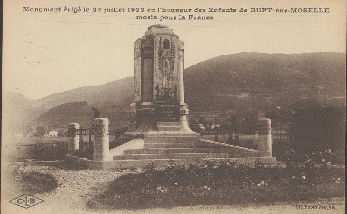 Contenu du Monument aux Morts de Rupt-sur-Moselle