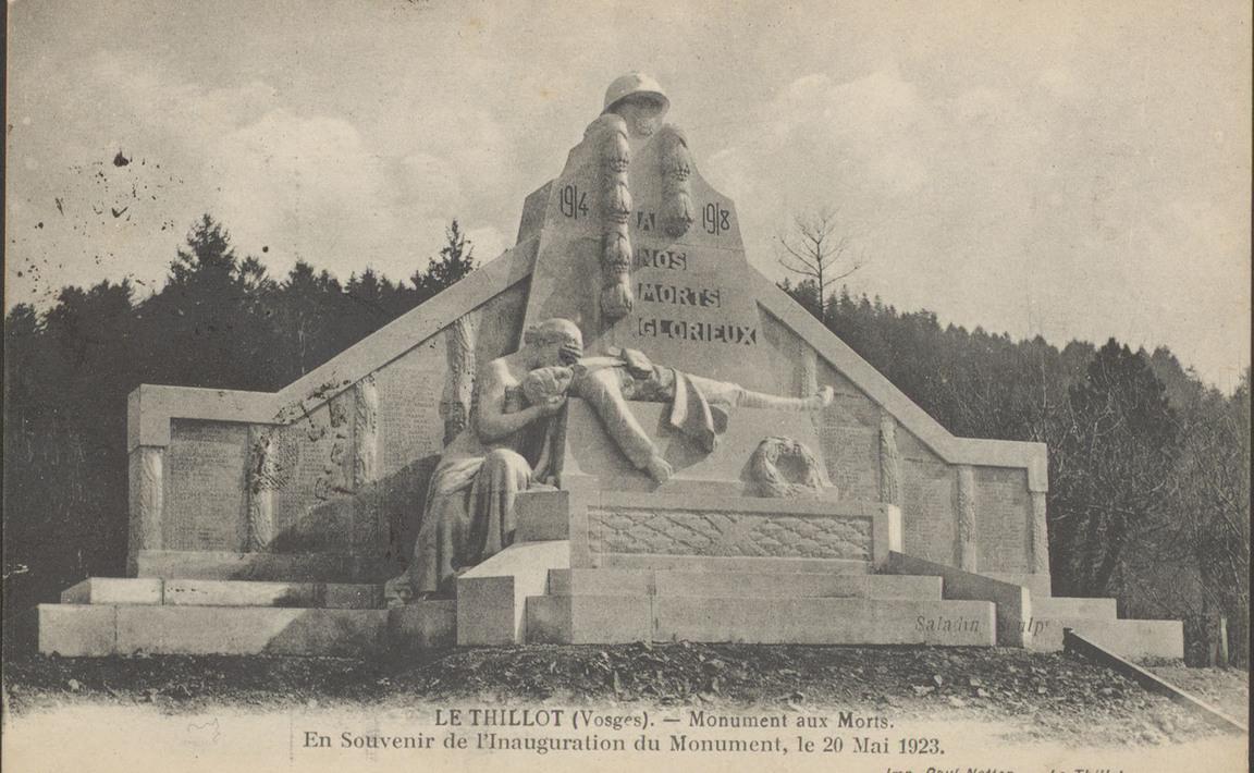 Contenu du Monument aux Morts du Thillot