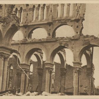 La destruction de l'église Notre-Dame-au-Cierge en 1944