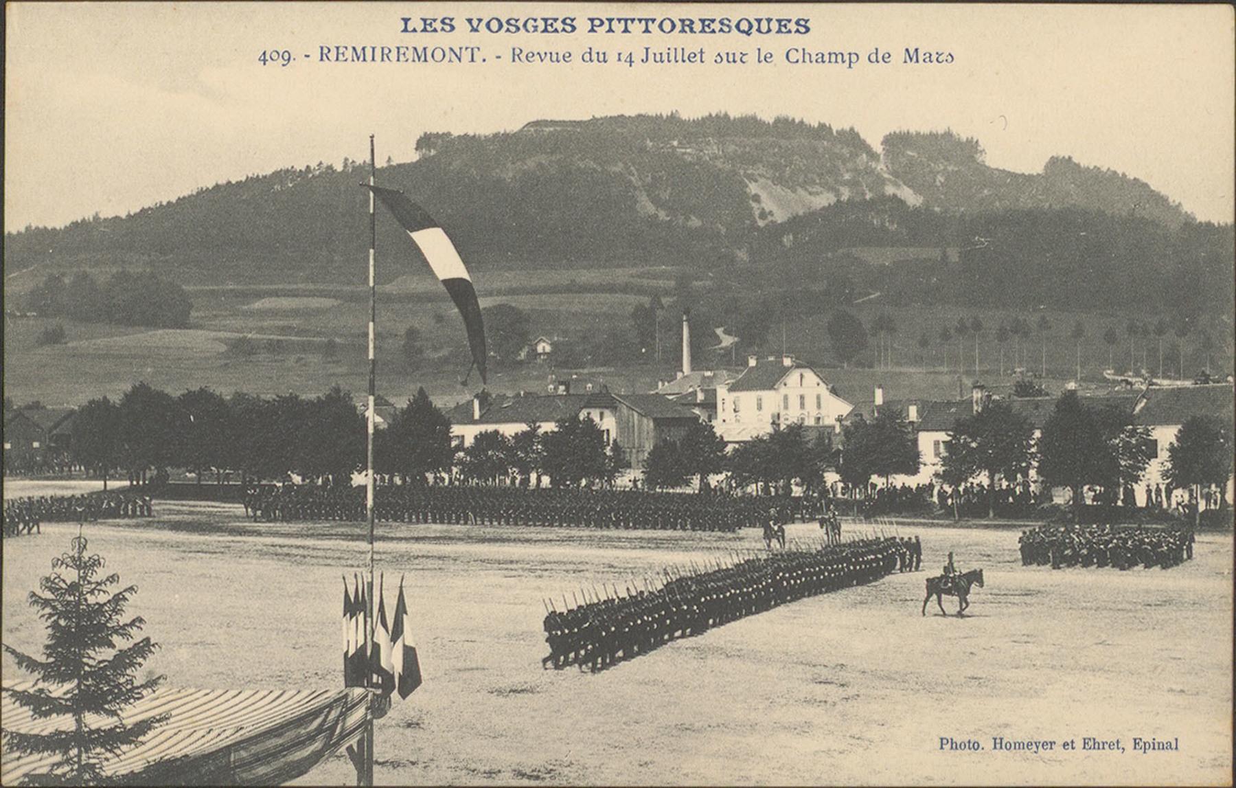 Contenu du Le Champ de Mars de Remiremont un 14 juillet