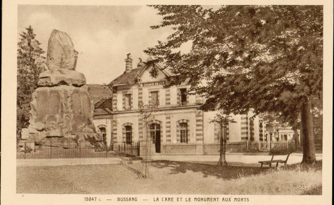 Contenu du Monument aux Morts de Bussang