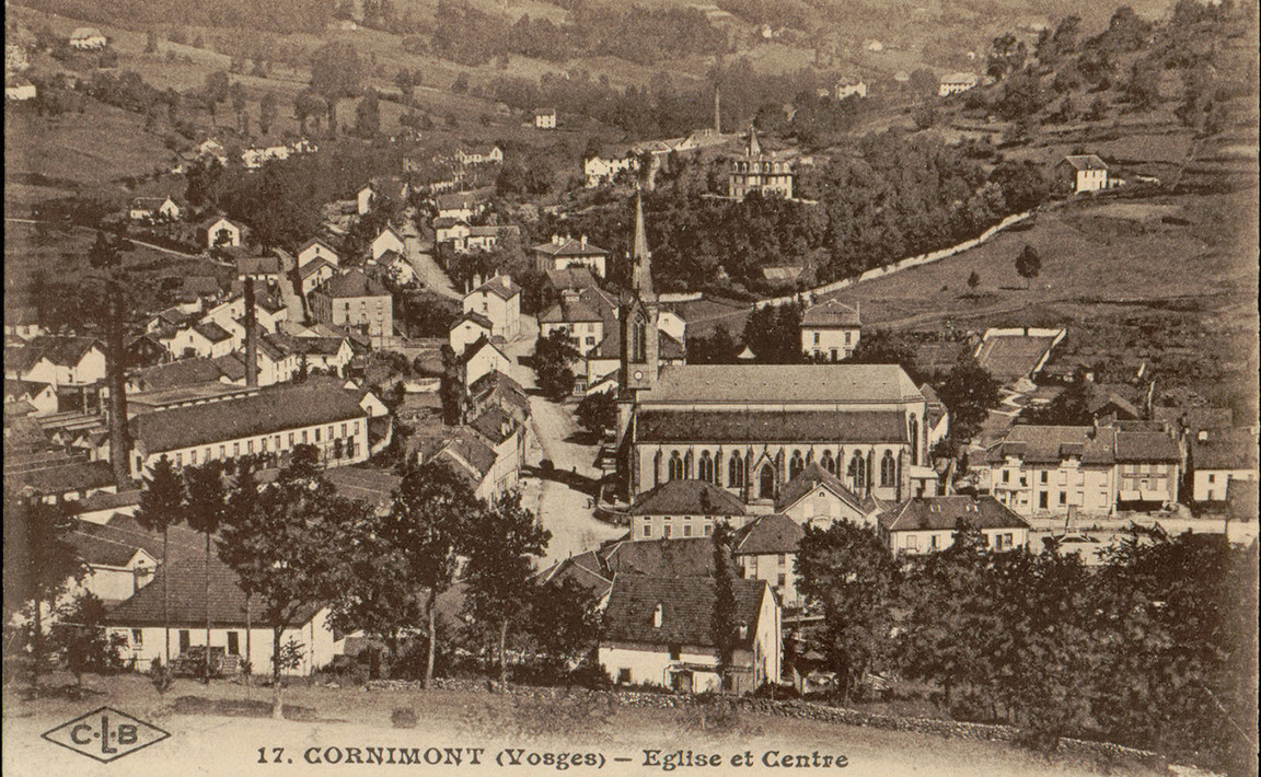 Contenu du Cornimont (Vosges), Église et centre