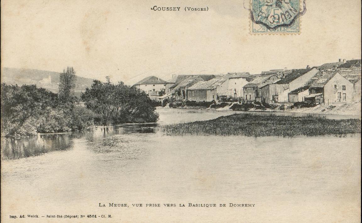 Contenu du Coussey (Vosges), La Meuse, Vue prise vers la Basilique de Domrémy
