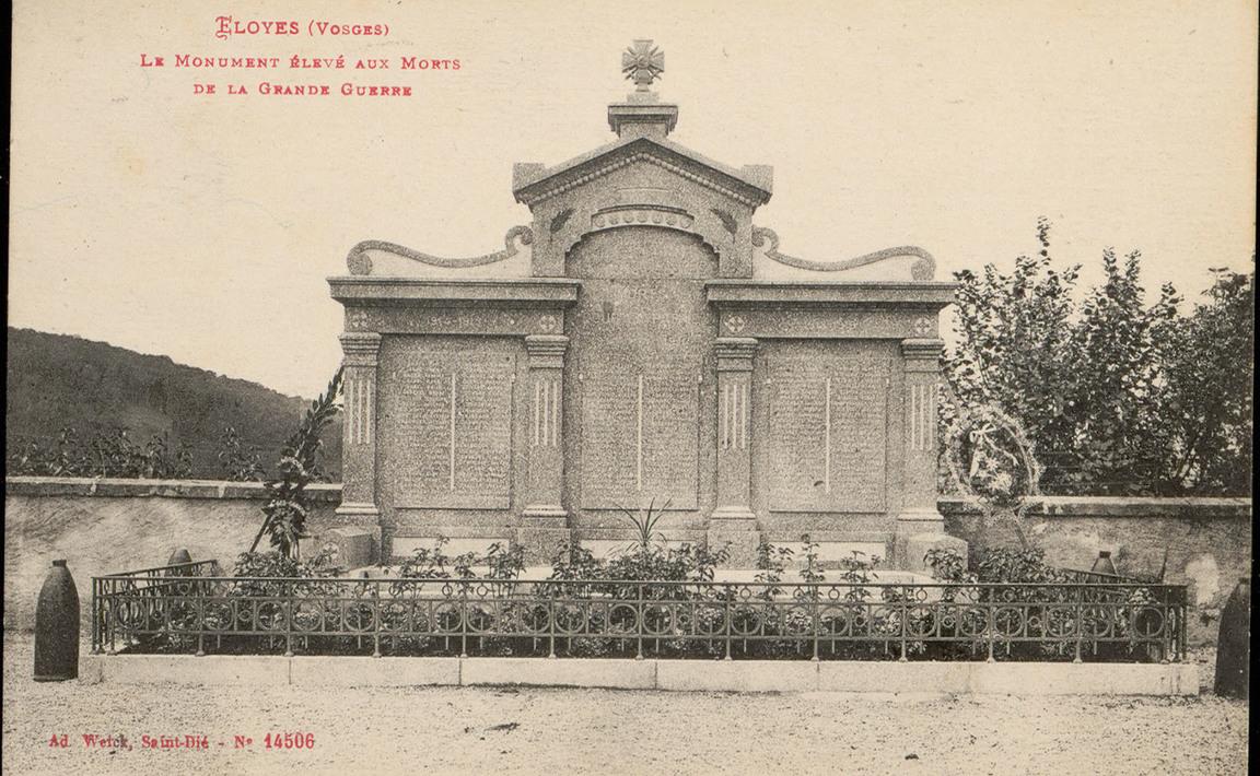 Contenu du Monument aux Morts d'Eloyes