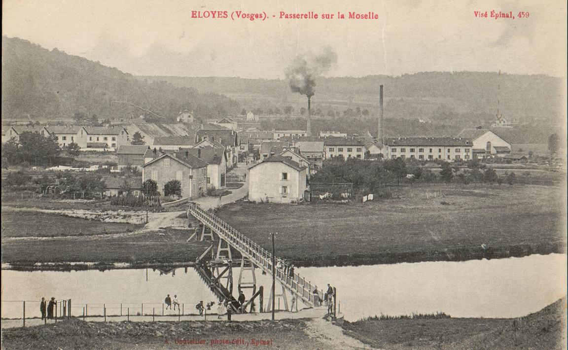 Contenu du Eloyes (Vosges), Passerelle sur la Moselle