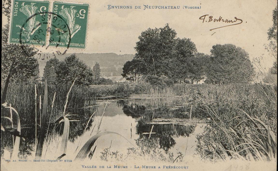 Contenu du Environs de NeufChâteau (Vosges), Vallée de la Meuse, La Meuse à Frébécourt