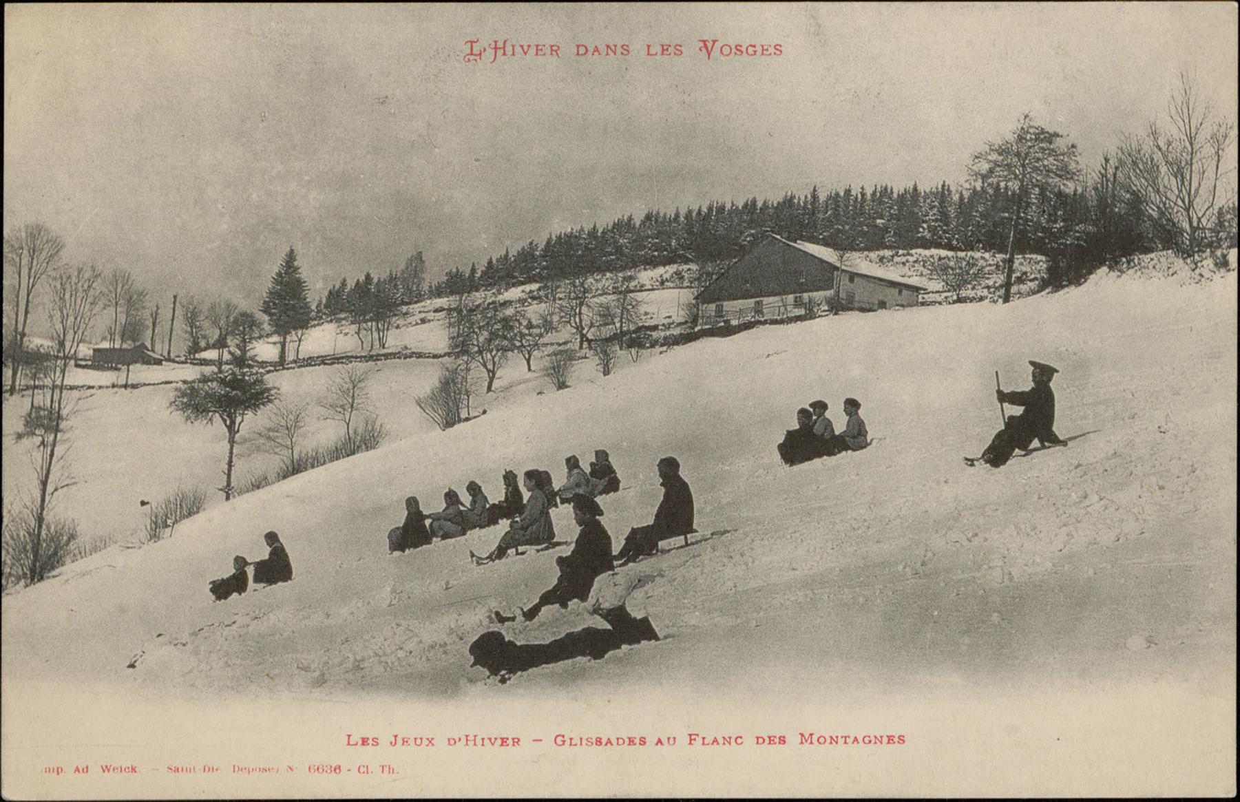 Contenu du Les Jeux d'Hiver, Glissades au flanc des montagnes