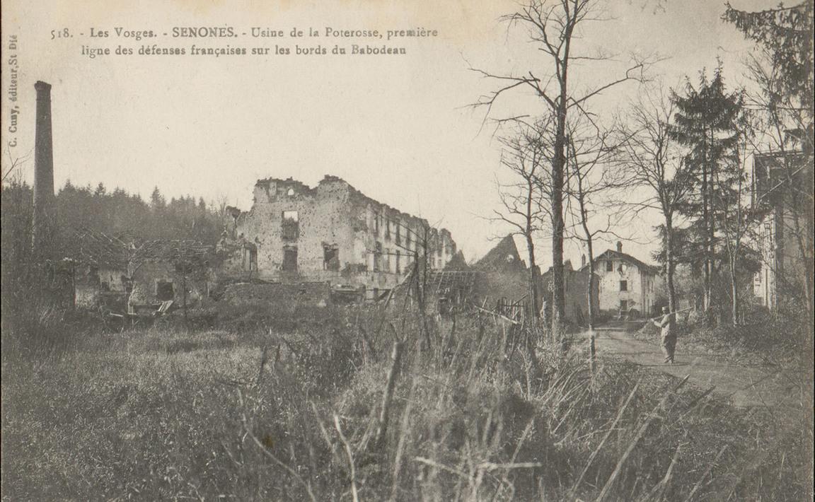 Contenu du Senones, Usine de la Poterosse, première ligne des défenses françaises sur les bords du Rabodeau