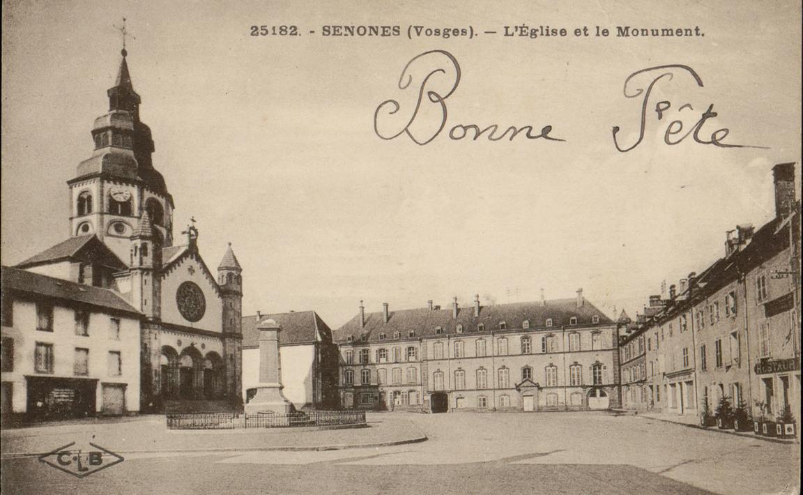 Contenu du Monument aux Morts de Senones